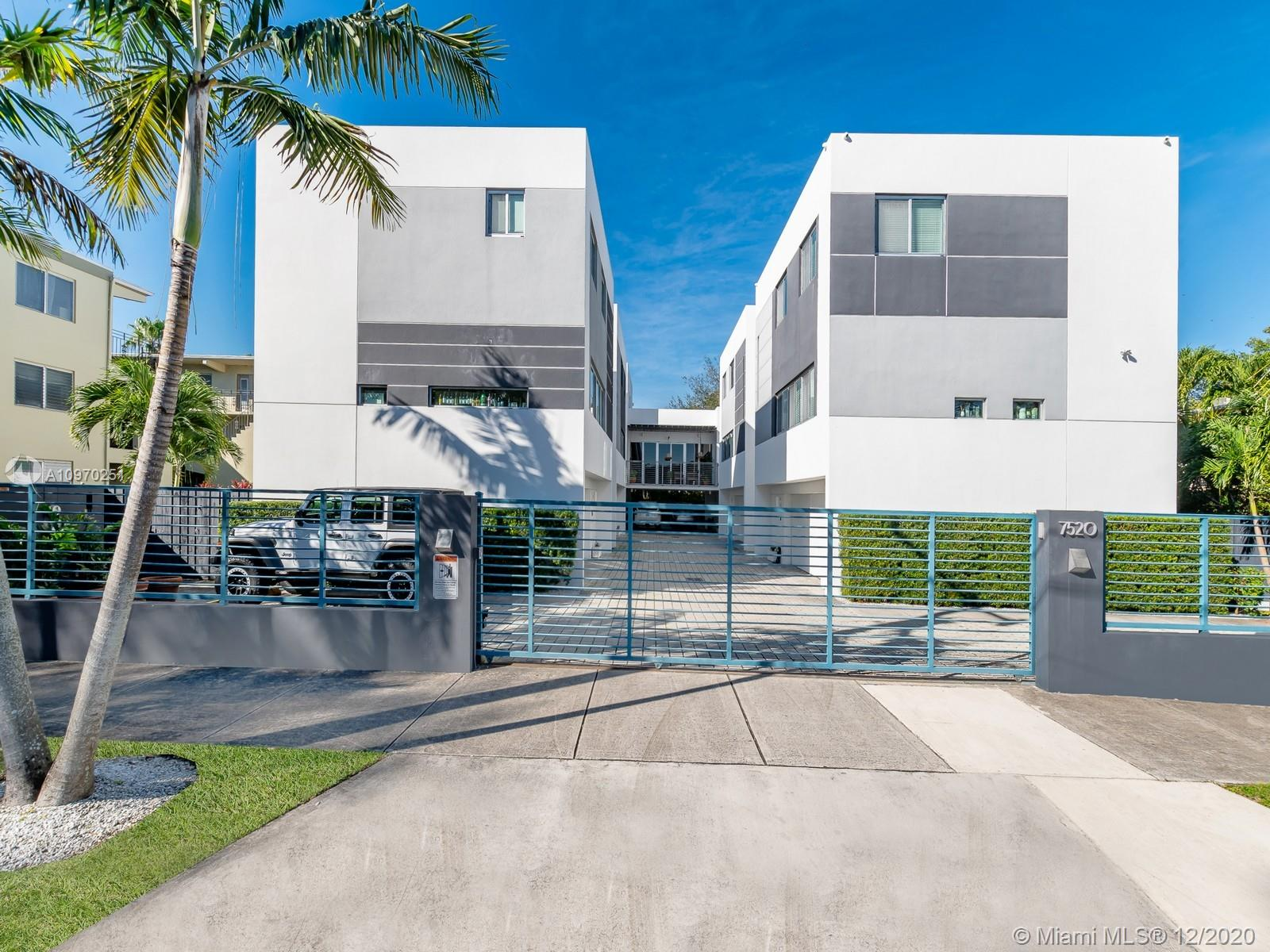 ONE OF A KIND 3 STORY TOWNHOUSE IN SOUTH MIAMI .  4 BEDROOMS 4 BATHS IN THE MAIN HOUSE WITH A 1/1 SEPERATE STUDIO WITH PRIVATE TERRACE, KITCHEN AND ENTRANCE.  MODERN FINISHES THROUGHOUT INCLUDING WOOD AND MARBLE FLOORS, GRANITE COUNTERTOPS, CORAL STONE TERRACES, HIGH IMPACT WINDOWS AND DOORS, UPDATED BATHROOMS AND MORE.  2 CAR GARAGE WITH UP TO 4 COVERED PARKING SPACES ALLOWING YOU TO PARK 6 CARS!  GREAT OUTDOOR ENTERTAINING AREA FOR PRIVATE GATHERINGS.  ONLY 6 UNITS IN THE BUILDING (VERY QUIET AND PRIVATE BUILDING)