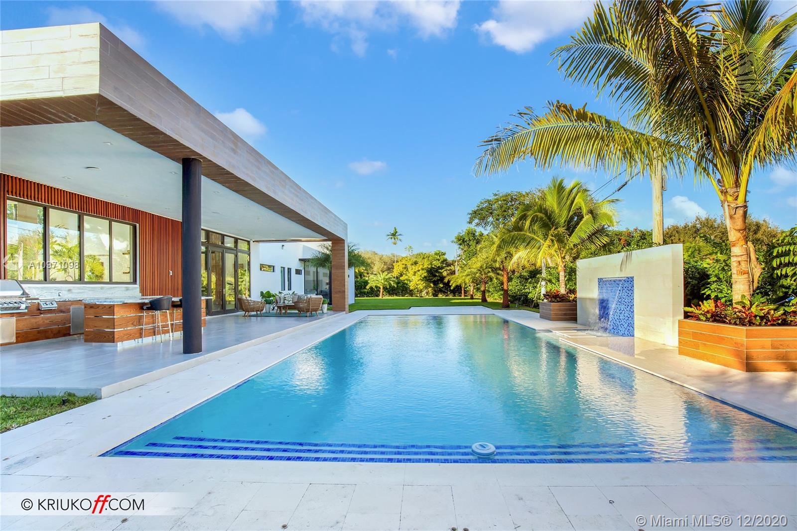 Search no further!! Dream home! Custom built gorgeous modern concept one story 7 Bedrooms and 6 Full bathrooms 6,250 square feet of living area home sits on 37,897 sf of land. Top of the line appliances Subzero refrigerator. Completely intelligent, WIFI already installed and access point are ready. Electric Car charger available, spacious Terrace with amazing pool and Jacuzzi. A Must see!