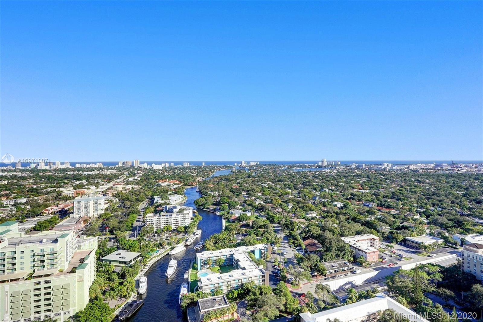 BREATHTAKING PANORAMIC VIEW OF INTRACOASTAL , OCEAN AND FORT LAUDERDALE WATERWAYS. A REAL PLEASURE .HUGE WRAPAROUND TERRACE TO ENJOY THAT VIEW. LUXURY BUILDING IN THE HEART OF LAS OLAS. WALKING TO RESTAURANTS AND BIKING TO THE BEACH. 2 BEDROOMS 2,5 BATH FORMAL DINING ROOM COMFORTABLE LIVING ROOM WITH NATURAL LIGHT THROUGHOUT, POGGENPOHL KITCHEN WITH TOP OF THE LINE STAINLESS STEEL APPLIANCES , SUBZERO REFRIGERATOR, DOUBLE OVEN , INDUCTION COOKTOP AND  NEW WINE CELLAR. BREAKFAST NOOK OVERLOOKING THE OCEAN.PRIVATE HOME OFFICE WITH ROOM FOR A TWIN SIZE BED. FULL SIZE LAUNDRY ROOM WITH MAYTAG BRAND NEW WASHER AND DRYER.IMPACT WINDOWS. NEW A/C. BATHROOM COMPLETELY REMODELED. BEST CORNER BEST VIEW BEST PRICE.