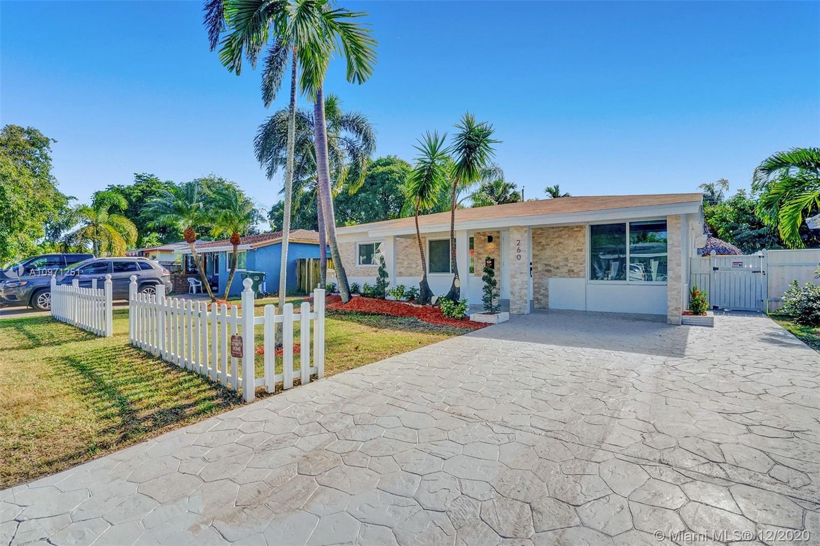 BEAUTIFULLY FULLY REMODELED 3 BEDROOM 2 BATHROOM HOME WITH VERY LARGE POOL IN THE HEART OF OAKLAND PARK! PERFECT TURN-KEY HOME OR VACATION RENTAL OPPORTUNITY! HOME FEATURES PARTIAL HURRICANE IMPACT WINDOWS AND DOORS, 2020 SHINGLE ROOF, 2017 A/C UNIT, BRAND NEW 2020 TANKLESS WATER HEATER, SEPARATE LAUNDRY ROOM WITH BRAND NEW WASHER AND DRYER, NEW BATHROOMS, IRRIGATION SYSTEM WITH NEW PLANTS, NEW CUSTOM KITCHEN WITH HIGH-END EUROPEAN CABINETS, QUARTZ COUNTERTOP, RECESSED LIGHTING THROUGHOUT, BACKYARD WITH LARGE POOL NICE FOR ENTERTAINMENT, SPACIOUS DRIVEWAY, FRESHLY PAINTED INSIDE/OUT, SMALL TIKKI IN THE BACK, STORAGE SHED CONVEY... MINUTES FROM SCHOOLS, BEACH, SHOPPING PLAZAS, ETC... HURRY THIS WONT LAST LONG!!