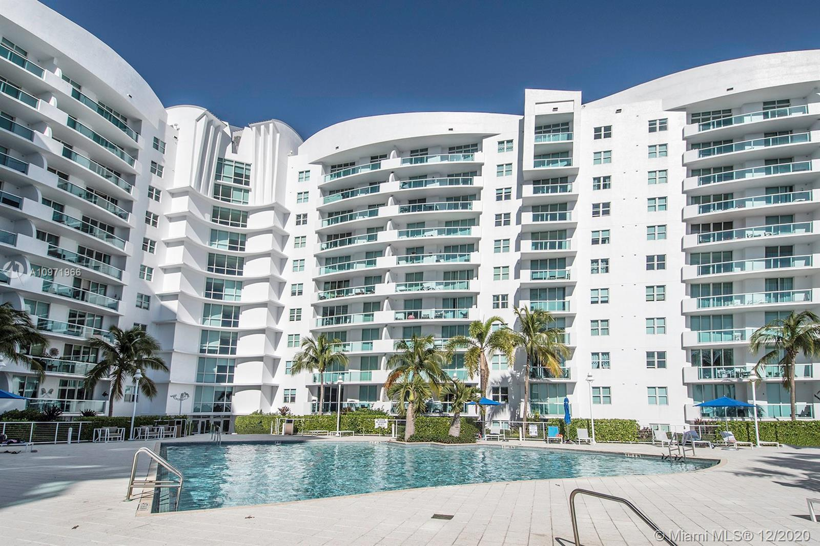 Motivated seller for this large and bright 1 bedroom condo with beautiful views of the bay from both rooms. Floor to ceiling windows, large balcony. Kitchen with GE Profile appliances and granite counter tops. Washer and Dryer in unit, Bathroom with whirlpool bath tub, separate shower and dual sinks. Pets are welcome up to 50lbs. The prestigious 360 community features many amenities, including free valet parking, fitness center, community & party room, heated pools (2), 24 hour security, business center, bike storage, marina and much more. Assigned parking space very conveniently located near the unit. Bonus: Internet and cable are included in the maintenance!