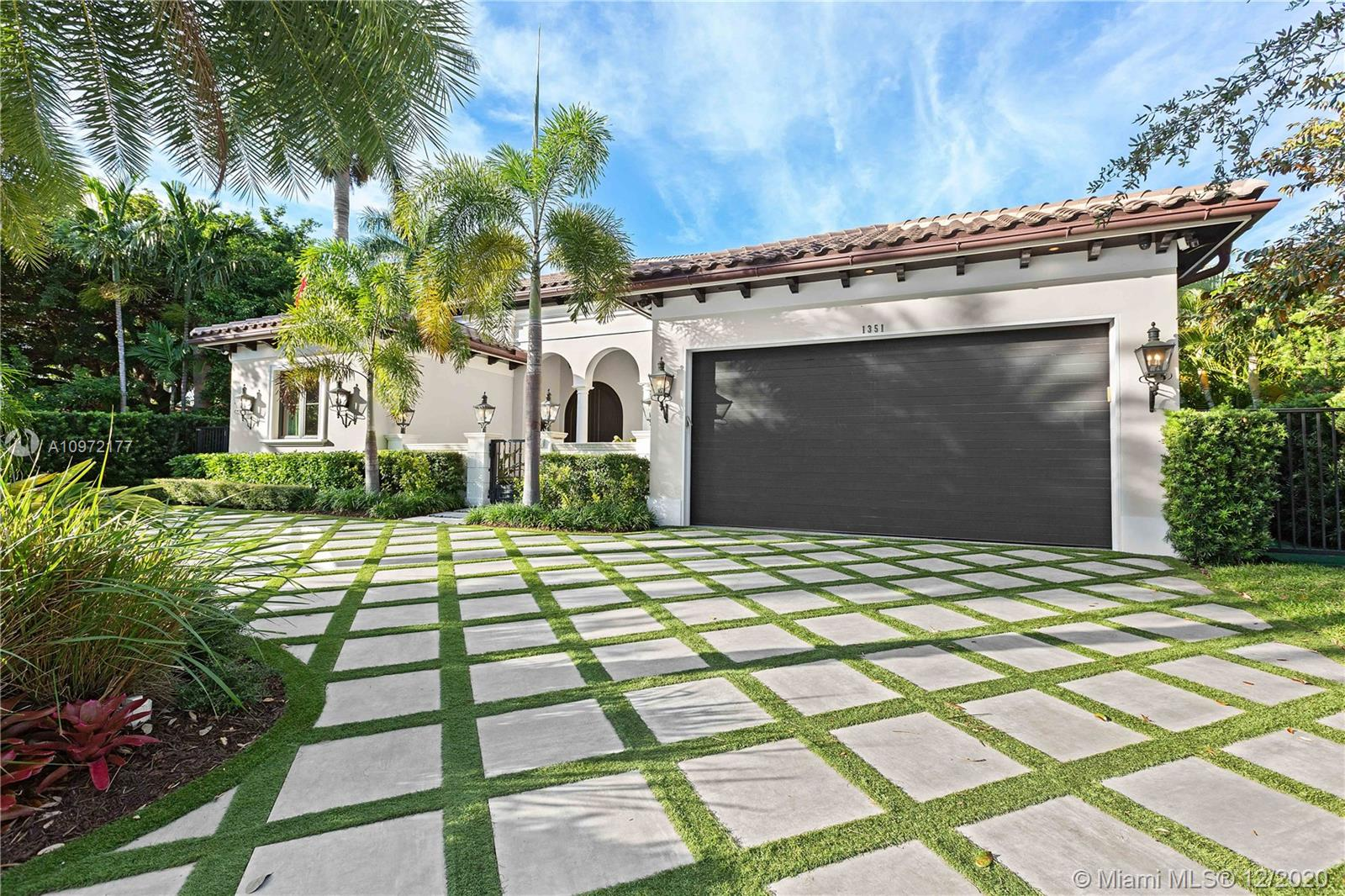 Fabulous custom built home in Bay Harbor... This smart home has everything; 5-bedrooms, 6-baths, each bedroom has en-suite bathroom, bright open floor plan with 14-foot coffered ceilings, gas stove, kosher kitchen, indoor laundry, & security cameras to start. The home has a circular driveway and a gated backyard with a covered patio, BBQ area, pool and hot-tub with smart controls. Impact windows, 2-car garage with epoxy floors. In an amazing neighborhood. This market is hot, don't let someone else beat you to it.