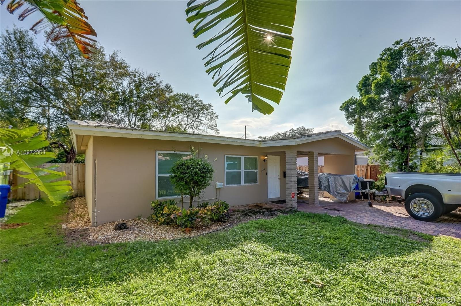 Updated w/ grey floors, stainless, granite, W/D & addtl storage. Large fenced yard w/ room for pool. Walk to shops, downtown & 5 min drive to beach. Use as income properties for annual rent or Airbnb. (NOTE: 1608 yellow home next door also for sale $650k-> Key West style renovated w/ a newer kitchen w/ stainless appliances, white cabinets & granite, updated flooring, fireplace, central air, alarm, LED lighting & Washer / Dryer. Large backyard w/ garden storage & covered deck w/ trellis. Owner prefers to sell both properties together but would sell separately for this price. Home (1604) is Leased at $2,300/mth until June 30, 2021. Must purchase subject to remaining lease. 1604 Folio #5042 02 10 0230. 1608 Folio #5042 02 10 0240.
