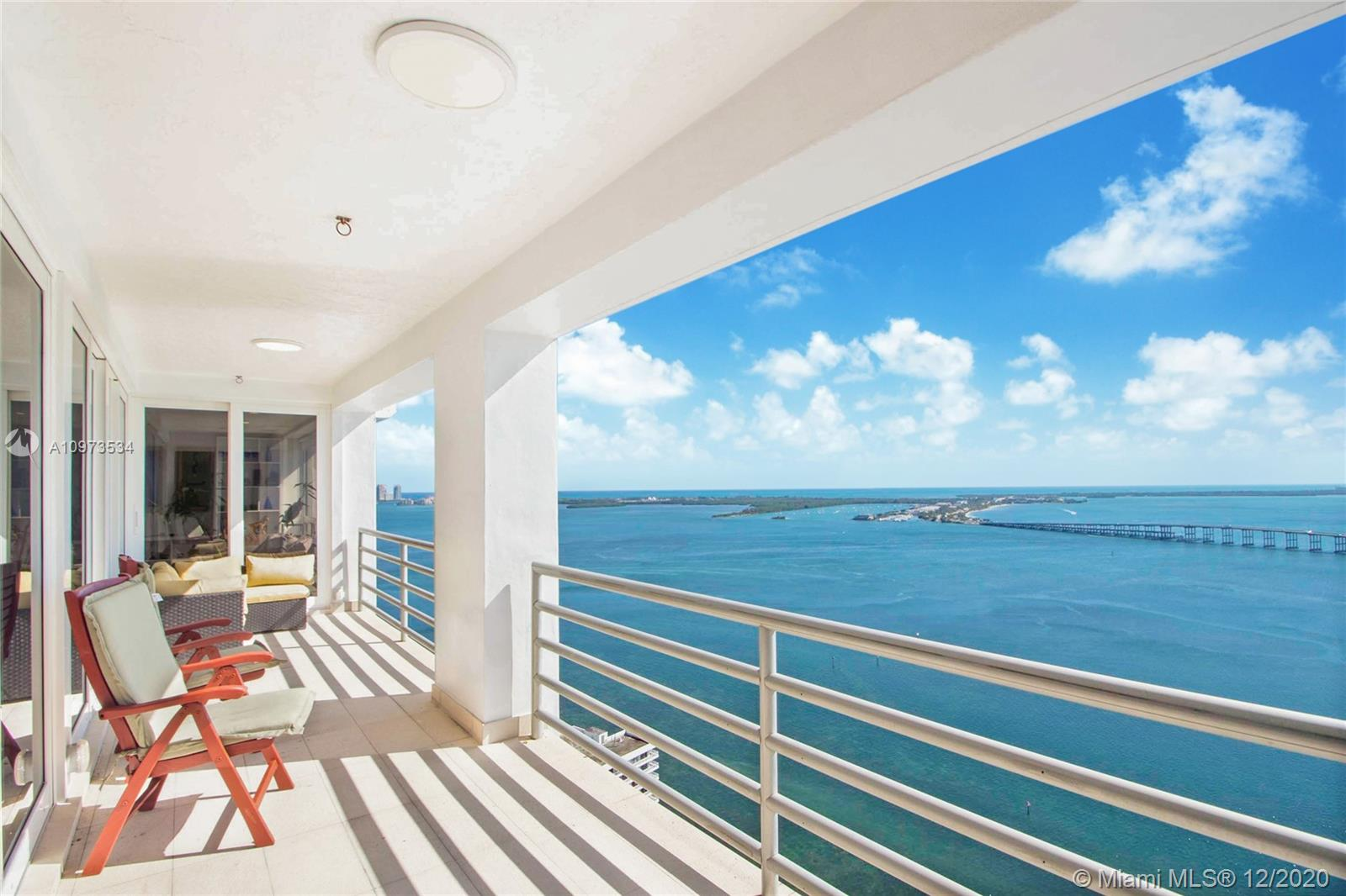 One of a kind Penthouse fully remodeled, completely Furnish. Unit provides a generous open floor plan of 3,280 sqft with 4 bedoroms, 4 bathrooms and separate Family room. 2 assigned parkings and both are on the first floor. Incredible panoramic Ocean/ Bay water views, spacious balconies with new impact resistant sliding glass doors and electric storm shutters in all windows. Additional luxury finishes and details include a gourmet granite kitchen with Sub-Zero appliances, a built-in music system, custom lighting features and a private poolside. Brand-new A/C units and water heater. The Palace is a 5-star waterfront concierge condominium with 24-hr security, swimming pool, fitness center and tennis courts, conveniently located in Brickell. Sold Turn Key