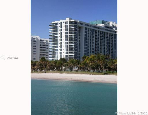 Gorgeous oceanfront condo in Bal Harbour, 2 bedroom 2 bath. Brand new kitchen, stainless steel appliances, washer and dryer inside the unit. Lots of amenities,: fitness, health spa, steam, sauna, aerobics and juice bar. Concierge & Security. Valet, party room with billiards, bar and TV lounge.