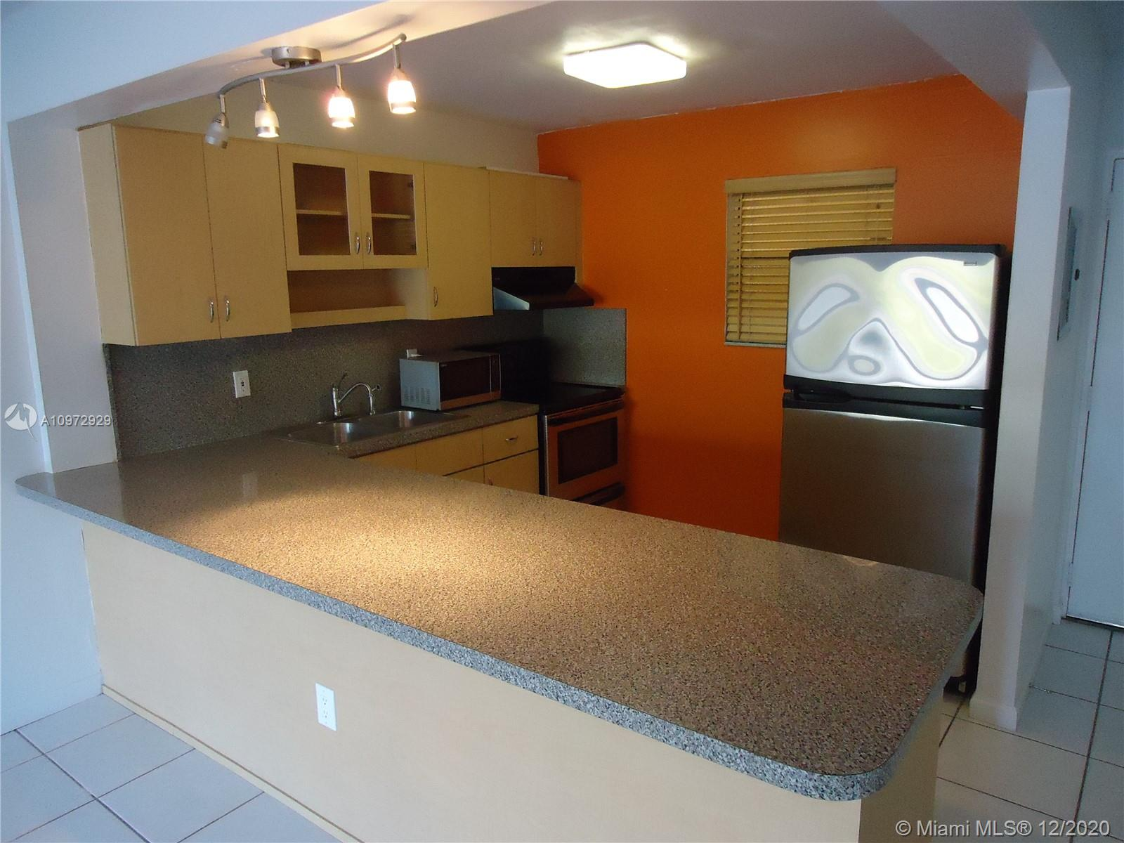 2/1 corner unit on the 1st floor in the Village of Kings Creek. Open Kitchen with lots of storage, The bathroom was completely redone with beautiful marble tiles. New impact windows and sliding glass doors. the community offers plenty of amenities, 4 pools, tennis courts, racquetball court, clubhouse, 24 hours patrolled security. Excellent location next to major highways, near Baptist hospital, Dadeland Mall, and public transit. Great investment, low association dues, leased until June 2021.