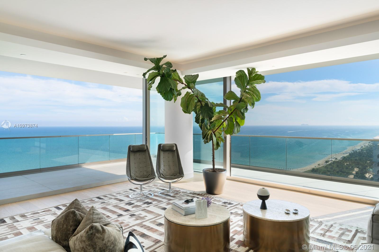 Step Inside With Me! An exquisite residence in the sky, 2001S is Oceana Bal Harbour's Flagship Floorplan. Finished w/ the highest caliber of materials, this flow-through corner residence offers a 1,500SF wraparound terrace w/ 180 degree view of the Ocean to the East and the Downtown Skyline to the West. 4,185 SF of living space, 3 bedrooms, Den, Family Room, & 4.5 baths. Boasting a brand new gourmet kitchen, custom bar, enormous Master with dual walk-in closets & an ultra modern bath, as well as stunning millwork throughout, this home is the epitome of elegant luxury. Oceana is the top tower in Bal Harbour offering 400' of beachfront, 24-hour concierge services, poolside restaurant, tennis, spa, fitness center, resort style pool w/ cabanas & more. The South 01 line is its most desired plan