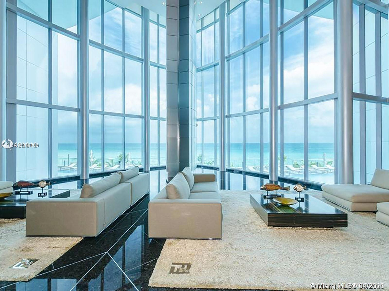 Private elevator will lead you to a unique high-end beach front 4BR/4BA apartment. Floor-to-ceiling impact windows and oversized terraces are offering mesmerizing 180 degrees view of the ocean, city and intracoastal views. Spacious bedrooms with spacious walk-in closets, modern Italian kitchen with state-of-the-art Miele and Sub-Zero appliances and wine cooler. Master bathroom with Whirlpool bathtubs and walk-in shower. Unit equipped with inbuilt smart home technology features that includes a wireless monitor for interactive communication. Air conditioned resident storage facilities. Ultra-luxurious amenities include the gorgeous private beach, beach side café, state-of-the-art gym, spa and massage rooms, kids playroom, business center with meeting rooms and offices and more.