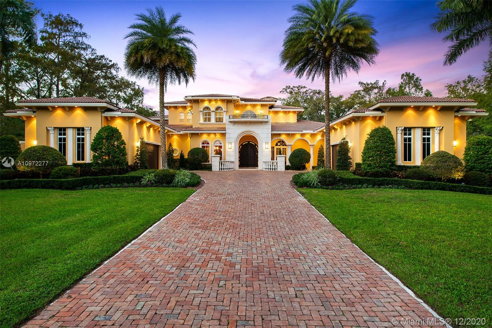 Welcome to one of the most Prestigious Estate nestled into desirable BBB Ranches. On almost 70,000 square feet of luscious, gated grounds this home offers 6 Bedrooms, 7 Bathrooms, an Office, Media Room, Loft, & Guest House. When first entering this beautiful estate, be greeted by grand foyer giving you a glimpse of the coffered ceilings/crown modeling throughout. The gourmet kitchen has quartz countertops & is fully equipped w/Viking appliances. The kitchen leads to the cozy family/dining room. This connects you to the media room that is perfect for the current pandemic, allowing you to enjoy a movie without having to leave the home. Breathtaking Lanai w/summer kitchen which overlooks the resort style pool and spa. This comfy family home is the ideal spot your Family will love.
