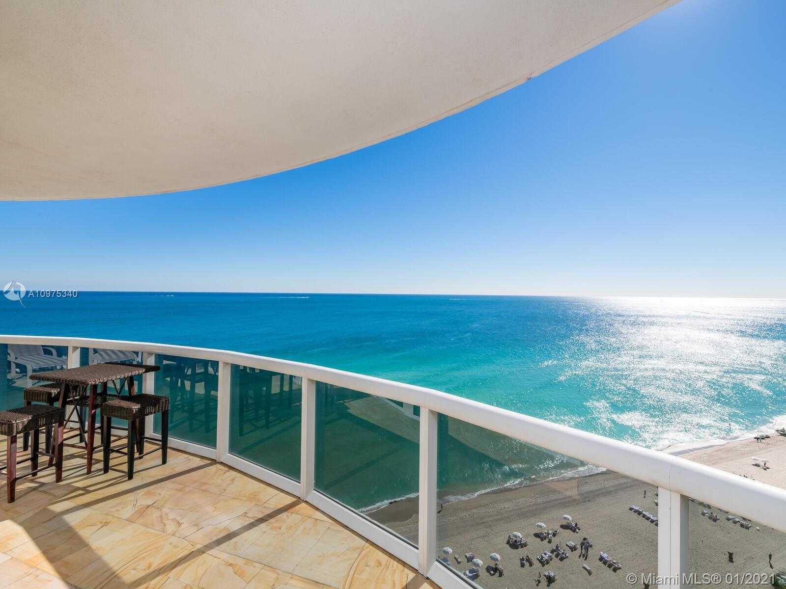 A Best Priced Opportunity @ Trump Royale! Be one of the First to show this Residence to your Clients.  Expansive 3063 sf, apt. 3 bed/3.5 bath's.  Direct Ocean Views with PANORAMIC Ceiling to Floor Windows, Wall of Windows with Electric Blinds that extend from Living Room to Master Bedroom!! Private Foyer, Elevator directly opens to your Residence & beautiful double doors.  Marble flooring throughout, and kitchen upgrades too.   3 Pools, beach service, other amenities include, Tennis Courts, Spa, Fitness Center in Building and at Trump Hotel.