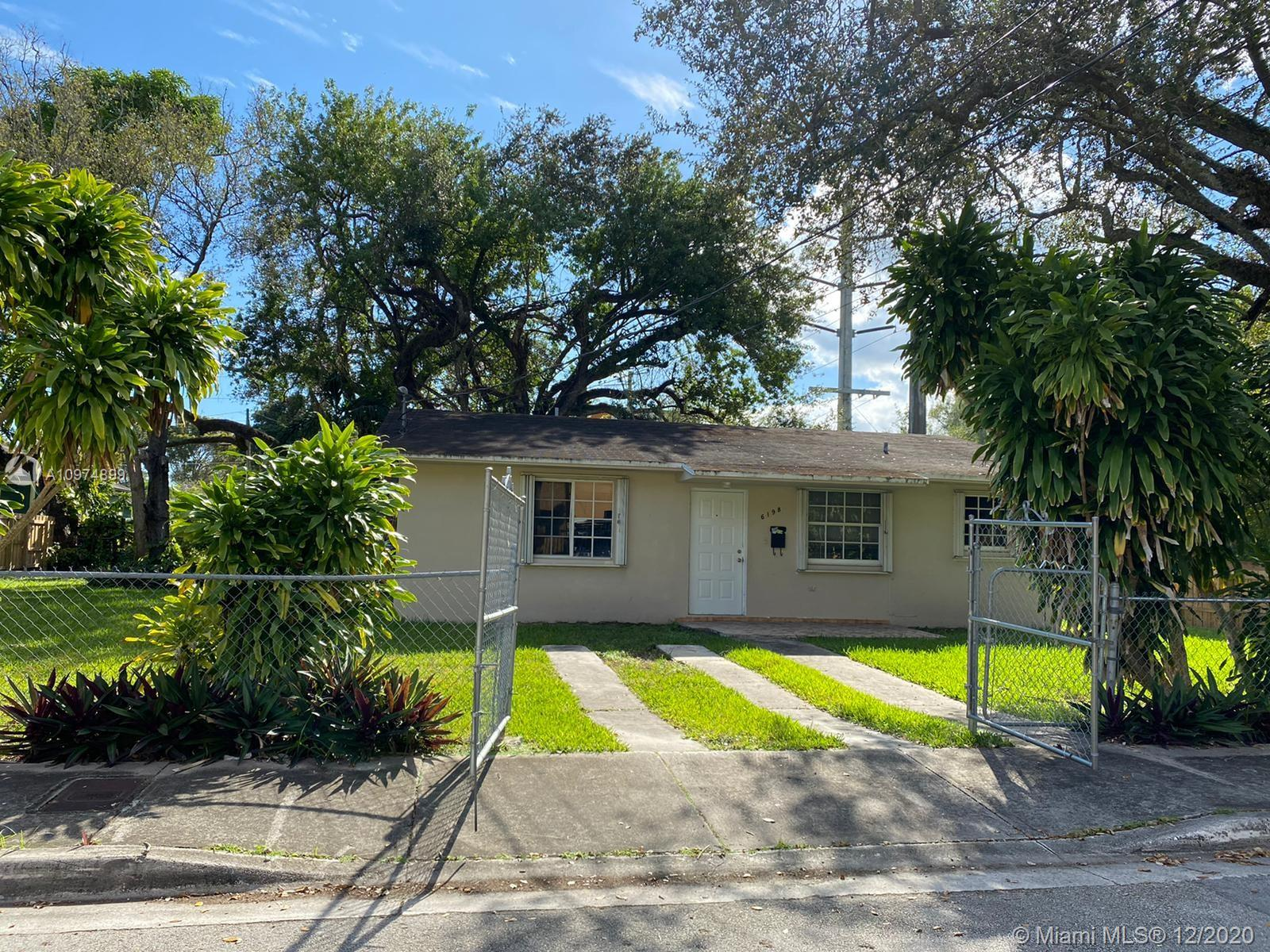 South Miami deal!! Absolutely charming home centrally located in sought after area! Great home light bright and airy.Upgraded home features 3/2 with a wonderful large backyard. Beautiful trees and lush foliage. Amazing property with fully fenced large corner lot.  Located close to South Miami hospital, University of Miami, Sunset Place, Metro rail, shopping, entertainment, restaurants and so much more! Bring offers now! Prime convenient location close to all. $439,000. easy to show
