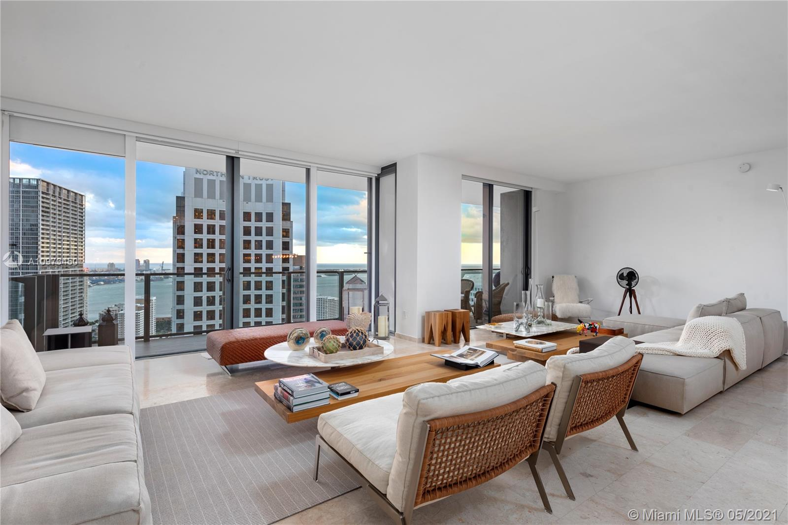 A one of a kind unit at Reach, Brickell City Centre! Spectacular 2+den/3.5 baths unit in the 03 line at Reach Brickell City Centre. Unit was completely re-designed to open up the floor plan and display incredible water views throughout. The residences at Reach are equipped with all top of the line amenities and offer a unique lifestyle that features luxury amenities such as a fully attended pool and spa, BBQ area, entertainment rooms, and a private cafe. Enjoy living right above Brickell's most elite shopping centre that features high-end luxury brands and incredible culinary experiences Listing is easy to show! Unit also available for short term rent. Unit was converted into a two bedroom to open up floorpan but could be easily converted back to a three bedroom