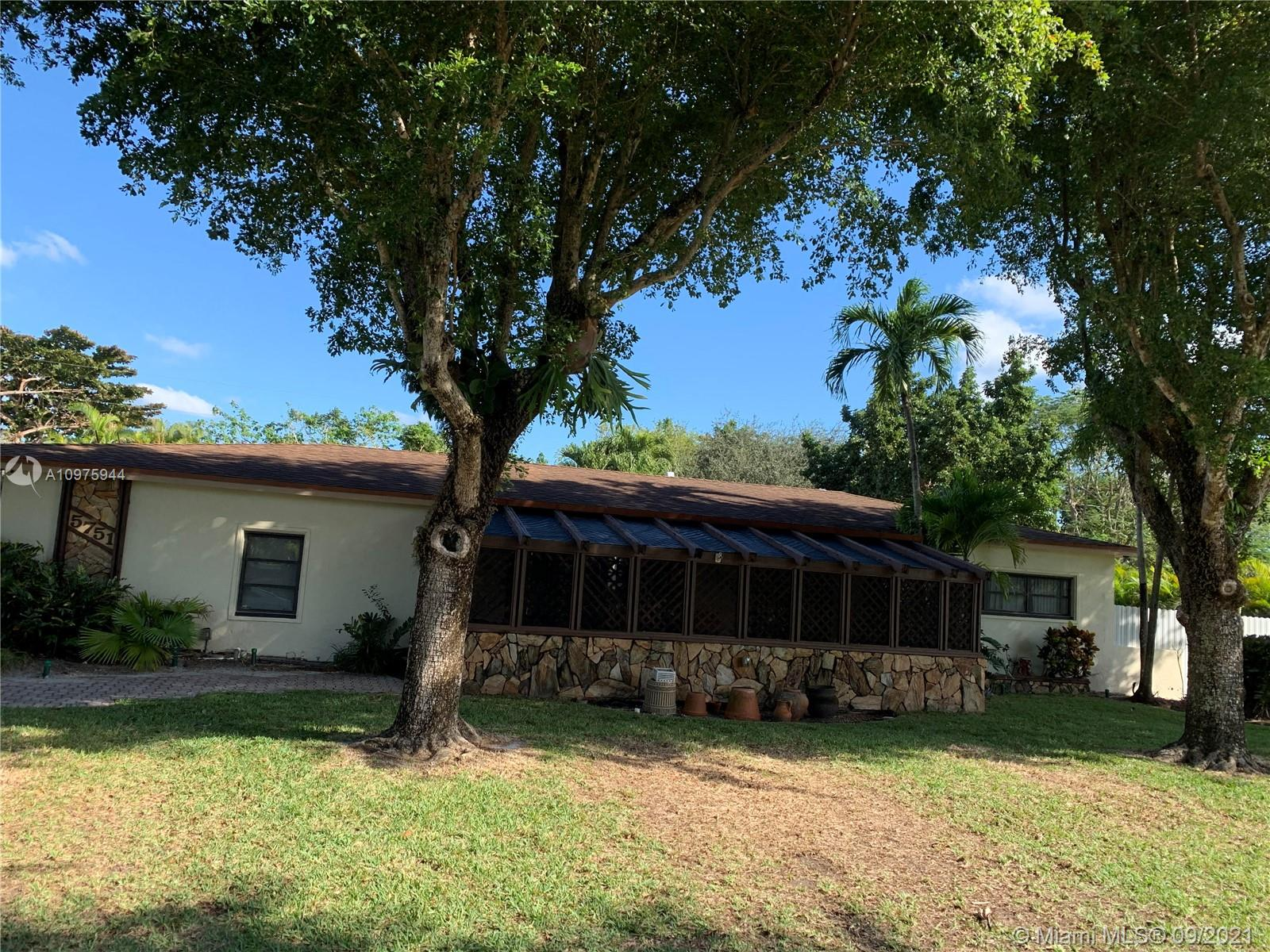 Two homes for the price of one! 4/2 - one house, 3/1 - guest house. Beautiful tropical oasis. Fixer upper in prime area. Excellent investor opportunity!! Sought after S Miami location. Beautiful desirable street. Gorgeous pool patio area excellent for entertaining. Large property room to add on. Won't last! Close to shopping, restaurants, University of Miami, transportation and so much more! Peace, privacy and tranquility. Best deal in area!!!! Easy to show