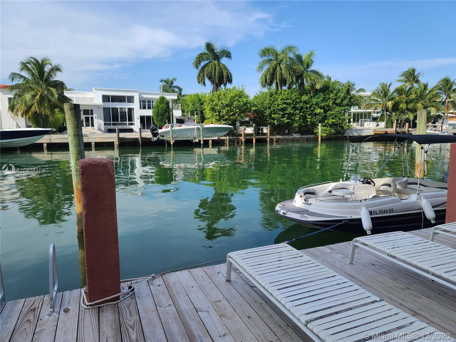 Great opportunity to build your dream home on the water in  from Indian Creek Island & Bay Harbor Islands. Very spacious 1 bedroom with 1.5 bathrooms condo unit. Located on the bay in charming Bay Harbor Islands. Boutique, secured building with pool, club room and dock with available boat slips. Open balcony with canal view  including large storage unit on ground floor. Walk to restaurants, shops, parks and beach. BREATHTAKING VIEW OF THE WATER. ONLY 12 UNITS IN THIS  ALL ARE FULL OF NATURAL LIGHT! ENJOY BEAUTIFUL SUNSET VIEWS. DON'T MISS THIS CHARMING UNIT! GREAT LOCATION! Ready for renovation NEEDS TLC. HURRY UP UNIT WILL NOT LAST. IT IS EASY TO SHOW.