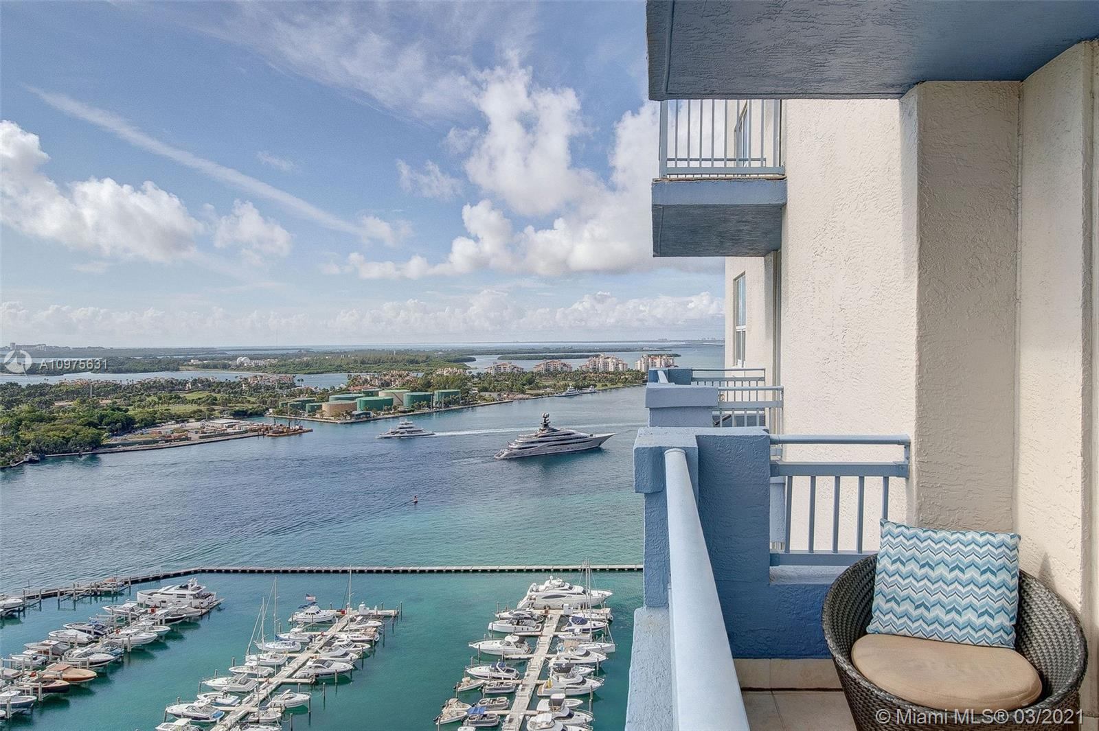 The best time to invest in Miami's real estate market is now! Enjoy direct ocean views, Art Deco District & Fisher Island from every room 27 stories high from this SE corner 2BR/2Bath condo at the Yacht Club of Portofino, located in SoBe's exclusive & highly desirable South of Fifth neighborhood! Rarely available 01 line & well features marble floors, 2 balconies, great closet space, full size W/D and natural light throughout! Great for investors in lucrative short term rental market in Miami Beach - the ONLY luxury condo bldg SoFi that allows short term rentals (min 30 days, 12 times a year). Enjoy resort-style amenities including tennis, pool, gym, Italian Bistro, convenience market store & Blow Dry Bar!