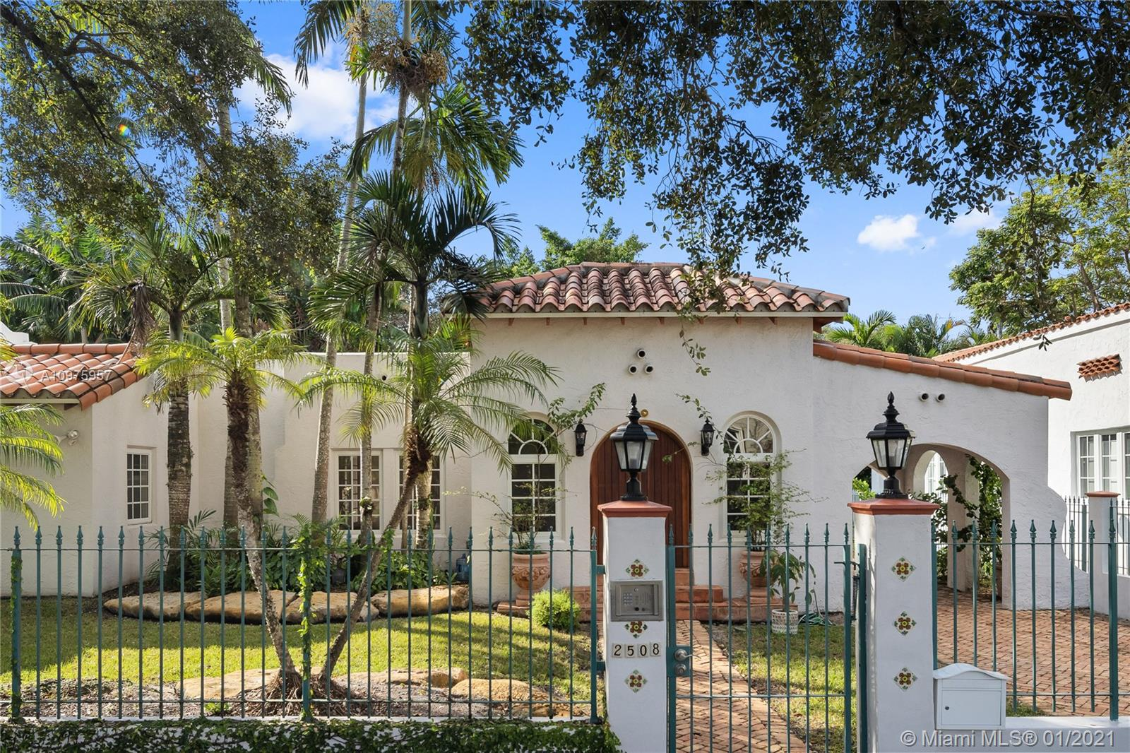 This beautiful 3000 Square feet Old Spanish home has been remodeled to perfection exhibiting all aspects of its original 1925 charm. It features 4 bedrooms and 3.5 bathrooms, large open light filled spaces, beautiful wood floors, impact windows and doors. The main home has a very large master bedroom and 2 guest bedrooms. There is a guest bedroom and bathroom above the 1 car garage, perfect for a home office or in-laws quarters. This property is fabulously located close to the Biltmore Hotel and Golf Course, St. Theresa's Catholic School, St Philip's Episcopal School, Shopping and Restaurants.