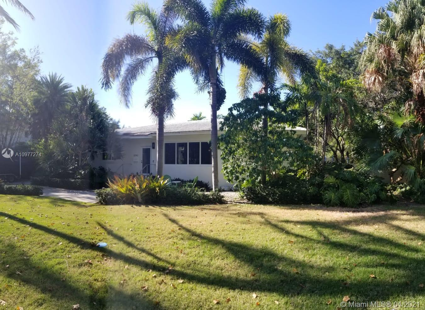 High Ceilings, Rebuilt in 2013 Unique Double lot goes from 84 STREET to 83 Street in South Miami, adjacent to Gables. House rebuilt opening 6 walls with new Hurricane Windows and Doors, Large walking Cedar closets & Open Kitchen & house to outdoor patio with New Basketball court. Outdoors brought in you can watch your children from every room. Designer Stark, Hosech & Decolav, finishes. European kitchen design with state of art Gaggenau, Subzero & Bulthaup appliances & cabinets. Restoration hardware chandeliers. New Quartzite, Quartz & Marble counter tops and floors in kitchen and baths. Gas range and water heater. Salt pool+spa+Tech Smart House. Exotic trees plus Mango tree. Live it, or BUILD 2 HOMES to suit. Home is much larger than tax role as per owner.