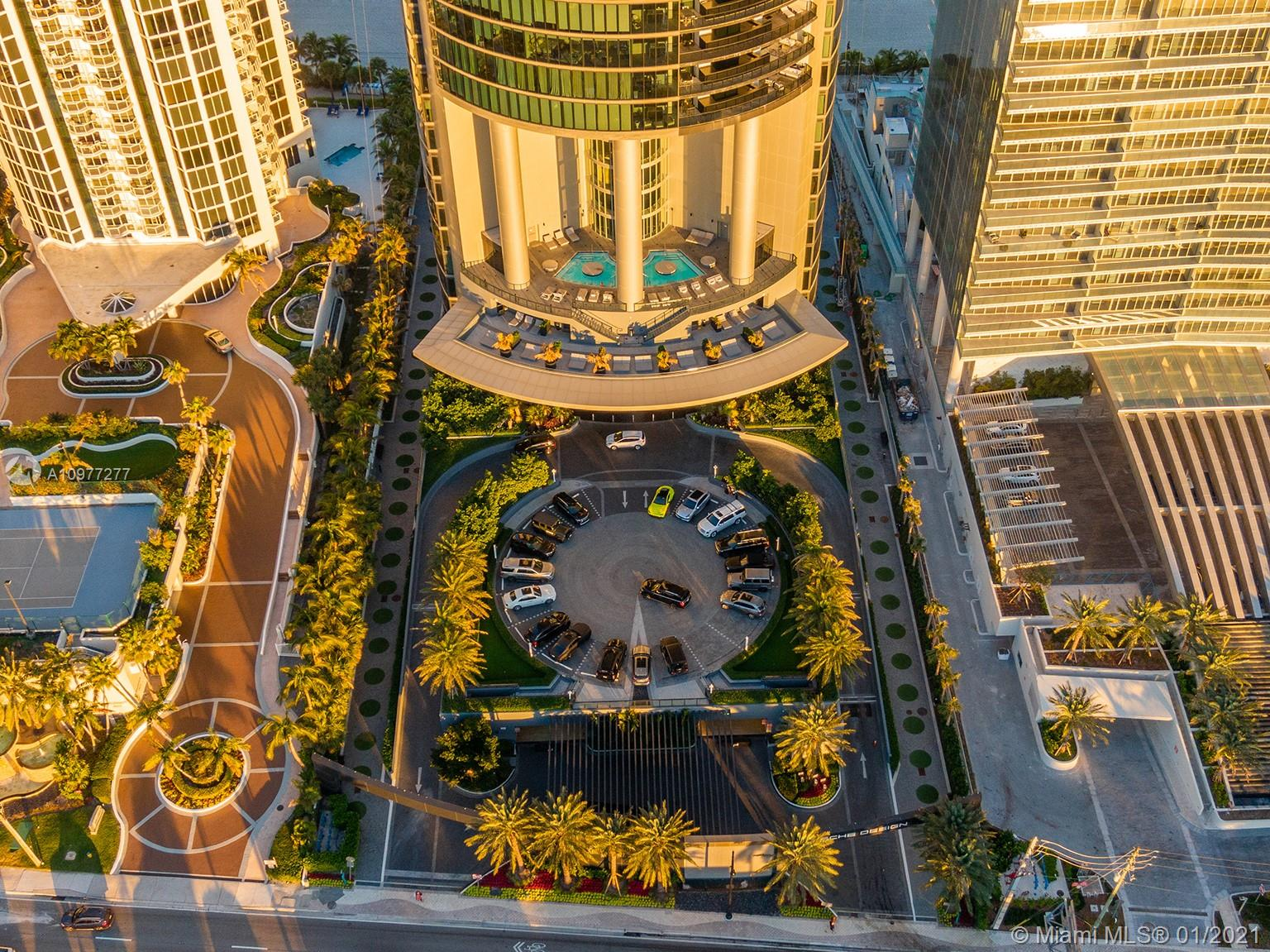 2 STORY DUPLEX WITH 3 BED, 4/1 BATHROOM, AMAZING MASTER BEDROOM WITH SPECTACULAR VIEW, SUMMER KITCHEN WITH MARBLE COUNTER TOP AND MIELE APPLIANCES. BATHROOMS WITH TOTO SMART TOILETS, SERVICE ROOM WITH BATHROOM. NEW WASHER AND DRYER. 3,130 SF. WRAP AROUND BALCONY AND FLOOR TO CEILING WINDOWS WITH THE MOST BREATHTAKING UNOBSTRUCTED PANORAMIC VIEW OF THE OCEAN, BEACH, BAY, SKYLINE AND INTRACOASTAL FROM EVERY ROOM. PRIVATE ROBOTIC CAR ELEVATOR TO THE APARTMENT FOR 2 CARS PARKING ON 50th. FLOOR ALLOWS CARS TO BE VISIBLE FROM LIVING ROOM. FIVE STAR AMENITIES, SPA, GOLF, RACE CAR SIMULATOR, OCEAN AND SUNSET POOL, RESTAURANT, BAR, GYM, SAUNA, THEATER AND BEACH SERVICE.