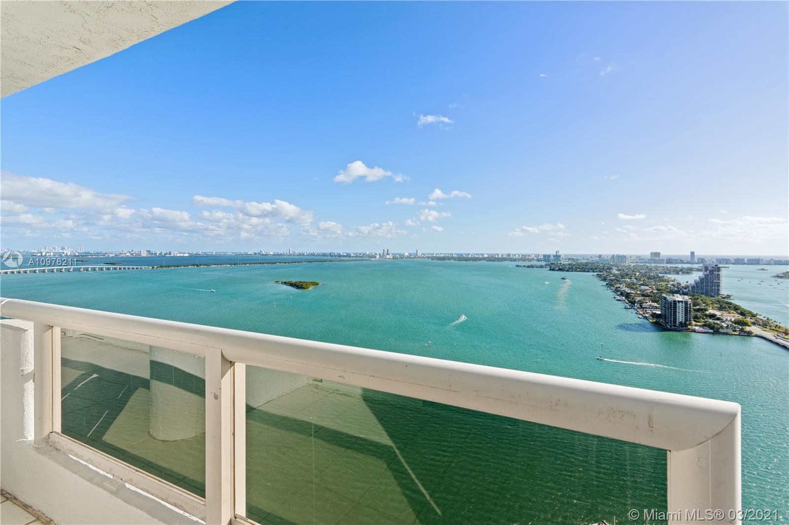 THIS PENTHOUSE IN THE SKY HAS DIRECT UNOBSTRUCTED BAY VIEWS OF BISCAYNE BAY, PORT OF MIAMI, THE VENETIAN ISLE AND MIAMI BEACH. THE GRAND CONDOMINIUM IS LOCATED IN THE HEART OF THE MIAMI ARTS AND ENTERTAINMENT AREA AND IS PART OF THE EDGEWATER DISTRICT. IT IS JUST BLOCKS FROM THE ADRIENNE ARSHT CENTER.  THE GRAND IS A FULL SERVICE BUILDING, COMPLETE WITH A FULL GYM, 5 RESTAURANTS, A MARKET, PHARMACY, JET SKI RENTALS AND SO MUCH MORE! THIS SPACIOUS 2 BEDROOM CONDO HAS AN ADDITIONAL ROOM THAT COULD BE USED AS A SMALL OFFICE. SHOWS LIGHT AND BRIGHT AND VERY EASY TO SHOW.