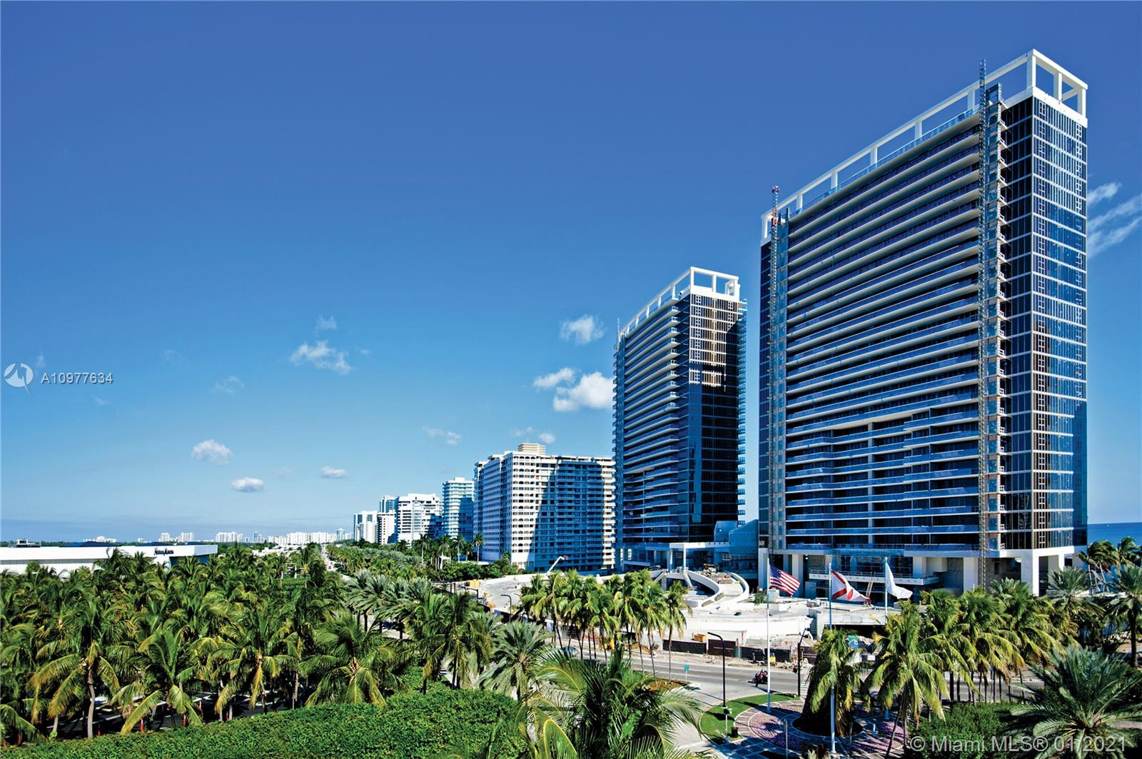 Welcome to an exceptional and extraordinary lifestyle experience with world class amenities at the one and only, ST REGIS-BAL HARBOUR, located right across from the famous Bal Harbour Shops. This marvelous 2bed/2.5baths residence in the sky, just shy of 1800 sqft of living area (as per developer's  floor plan attached) + one of kind oversize 455 sqft terrace, is offered turn-key, professionally decorated by HA Style for Living Design, with breathing and spectacular city and partial water views, luxurious finishes such as; beautiful marble floors, fabulous european-imported cabinetry and fixtures, motorized window treatments throughout, customized built-in closets, high-end electric and gas appliances such as a fantastic Thermador Gas stove. Ready for you!