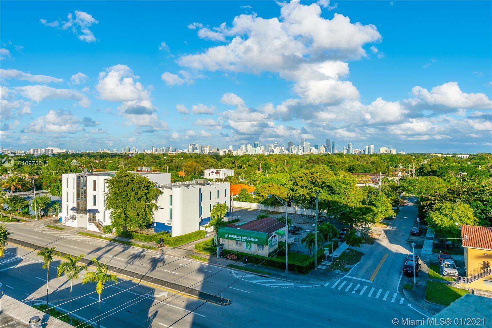 This 1 bedroom, 1.5 bathroom is located in the heart of Miami. It is just minutes away from Coconut grove, Coral Gables, Brickell, Downtown, as well as the metro rail station. This unit is equipped with wood flooring, impact sliding glass doors, granite kitchen counter tops along with stainless steel appliances. Both washer and dryer are included in the unit. The wrap around balcony offers wonderful skyline views from both master bedroom and living room. Amenities include pool, gym and party room with secure entry to the lobby. The unit comes with one covered parking space in secured garage.