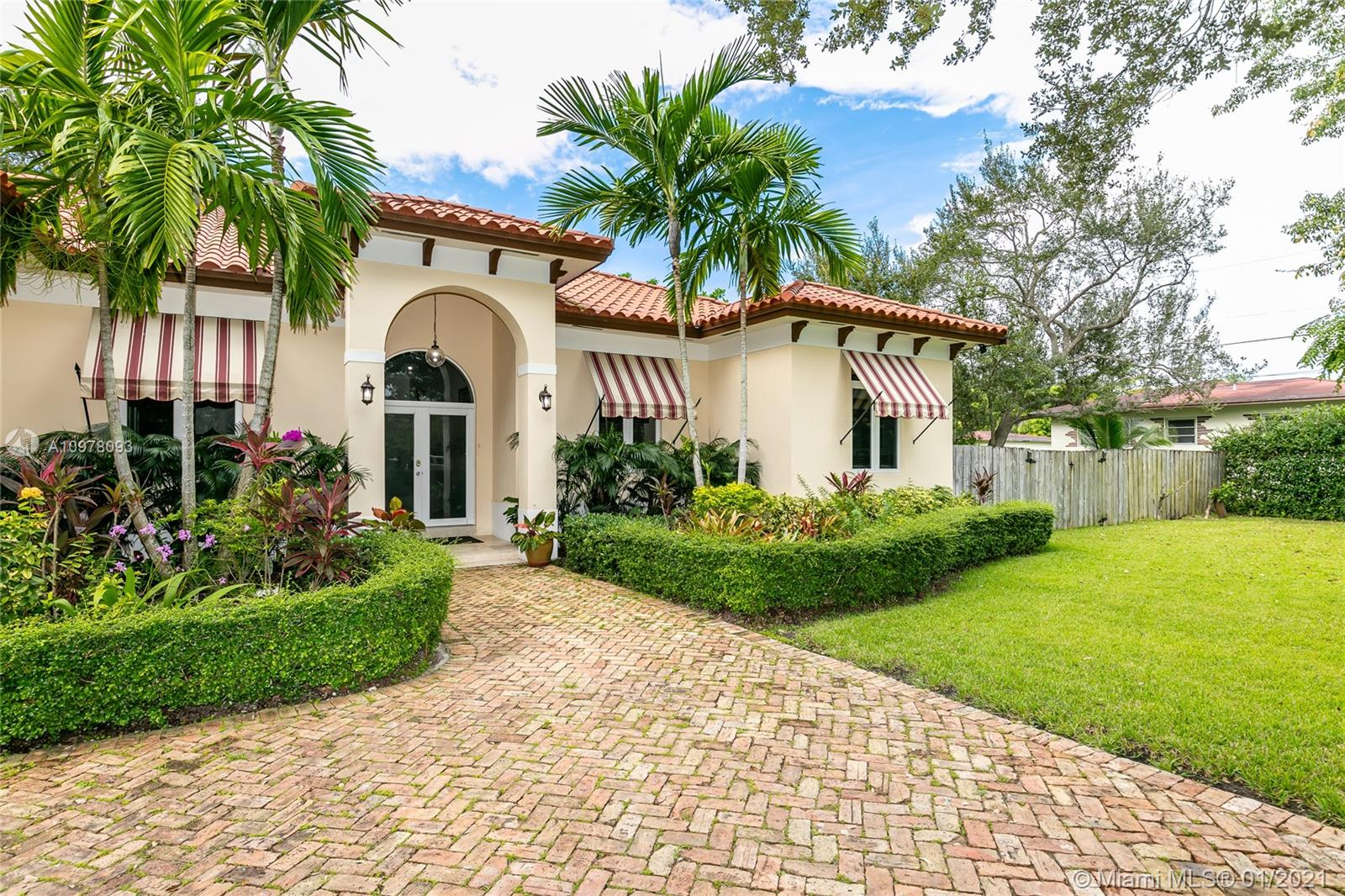 Beautiful and spacious 5 Bed   4 Bath in South Miami. 0.52 Acre Lot. Retired Owners ready to downsize. Living Sq. Ft. 3, 142 as per appraiser. This luxurious Mediterranean style home was built in 2011 with beautiful 13 ft ceilings. No expense was spared and no detail overlooked! Plenty of natural light throughout the home. Large kitchen with dark wood cabinetry, granite countertops, and stainless steel appliances. Pool, jacuzzi, and lots of entertainment space. Close to major highways and great schools.