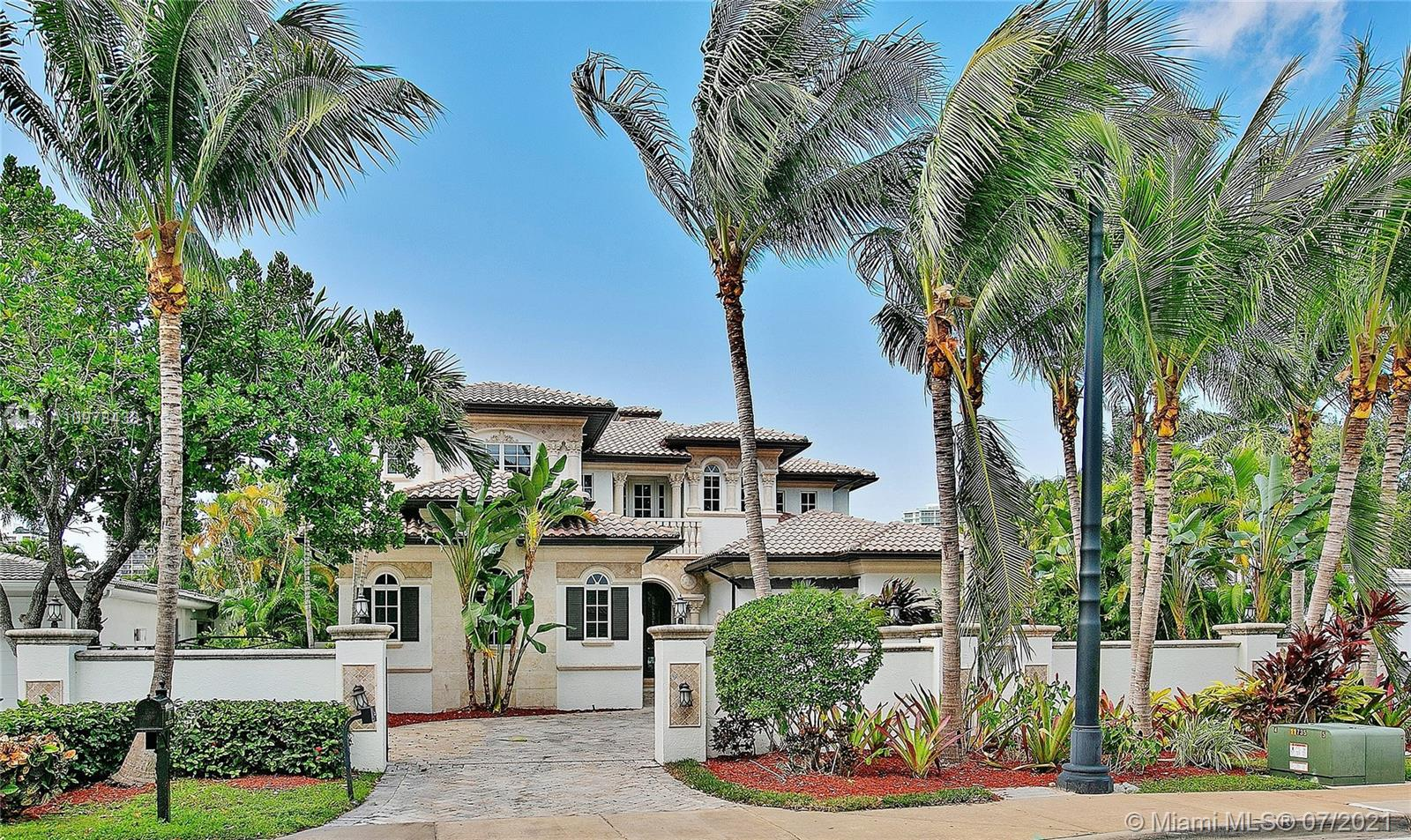 Luxury Home at Golden Beach, Fl. 6 Bedrooms 5 Bathrooms 2 Powder rooms, 2 master bathrooms, 3 car garage, separate guest suite, downstairs office, spacious gated driveway, kosher gas kitchen, indoor/outdoor fireplaces, waterfall pool & spa, summer kitchen, upstairs loft with bar/midnight kitchen, built-in stereo system, elevator, vaulted ceilings.