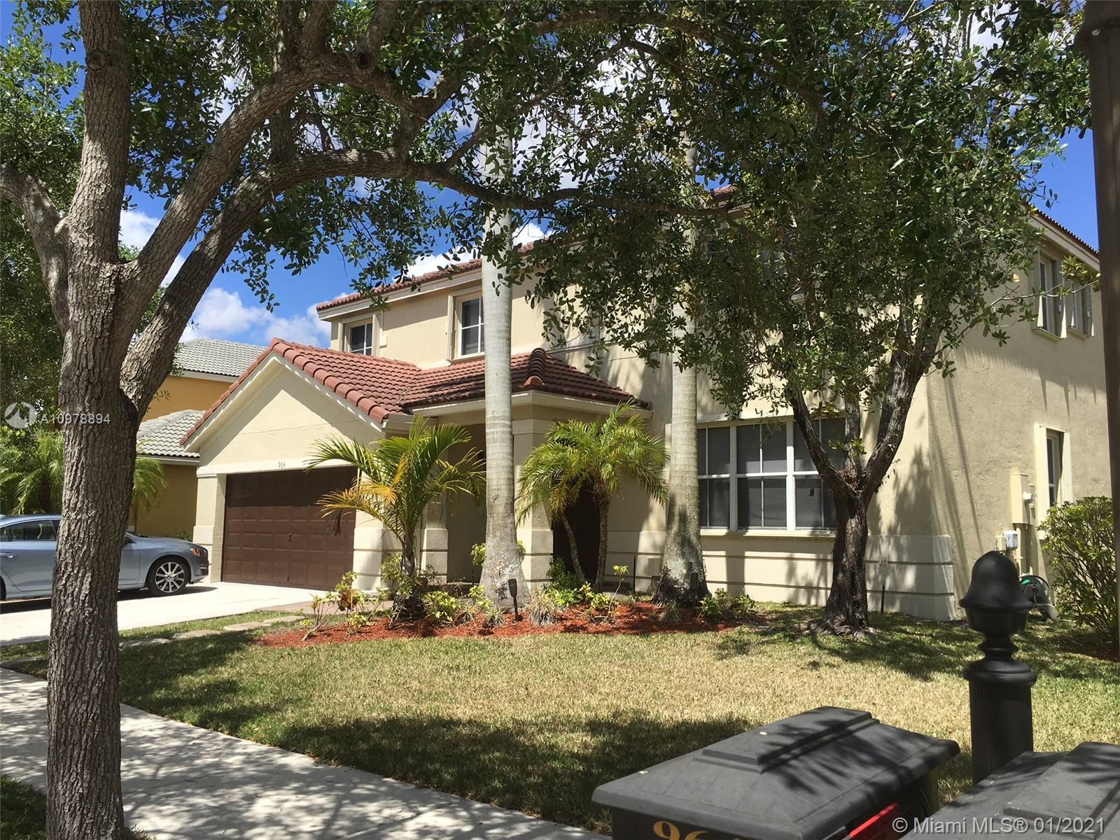 "Enjoy living in this large 5 bedrooms 3 1/2 bathrooms POOL house, with a 2 covered car garage, located in one of the most famous Savanna Gated Community, with resort like amenities like Lap pool, Resort pool , Water slide, Interactive Kiddy pool and Baby pool. impeccably maintained and clean home that is ready to move in .Huge family room open to kitchen with peninsula, ready for parties. Enjoy outdoor Florida living from the pavered patio with pool, and  barbecue. Upgraded features include accordion shutters , 42"""" kitchen cabinets , granite countertops, SS appliances, Master bedroom with in suite his & her closets. Separated laundry room downstairs. Excellent location in an ""A"" rated school zone, near restaurants, major roadways and only 20 mins from Sawgrass Mills. Low HOA."