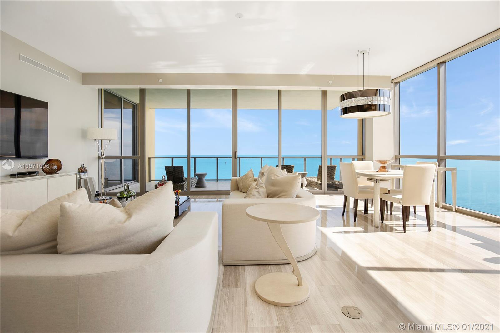 Reduced to SELL! Gorgeous Residence at the Exclusive Mansions at Acqualina featuring 4 Beds, 6.5 baths and 4,609 sqft of living area. Unbelievable Direct Ocean and City views from the 30th Floor, Unit Upgraded with FENDI CASA Furniture Package worth $550,000. Don't miss this opportunity to enjoy the Lavish lifestyle including endless amenities and Five Star Service. Call LA for information.