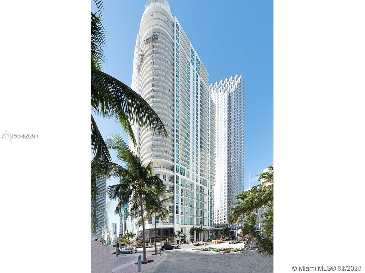Two story loft unit at Met1 Tower in Downtown Miami - 1Bed/1.5Baths + Den with gorgeous views of water and skyline. Open concept kitchen, Italian cabinetry, granite countertops, SS appliances and washer/dryer. Extra storage space. Enjoy water and city views from your ample balcony. Assigned parking space on the same floor -  don't have to enter through the lobby! Pet friendly building. Impact windows and sliding glass doors designed to meet hurricane codes. The Met 1Tower offers high security and top of the line amenities with lobby and valet service, pool & spa, fitness center with stunning water view, game room and more. Water, cable & Internet included. Walk to Metromover, Whole Foods, shops, movies & restaurants.