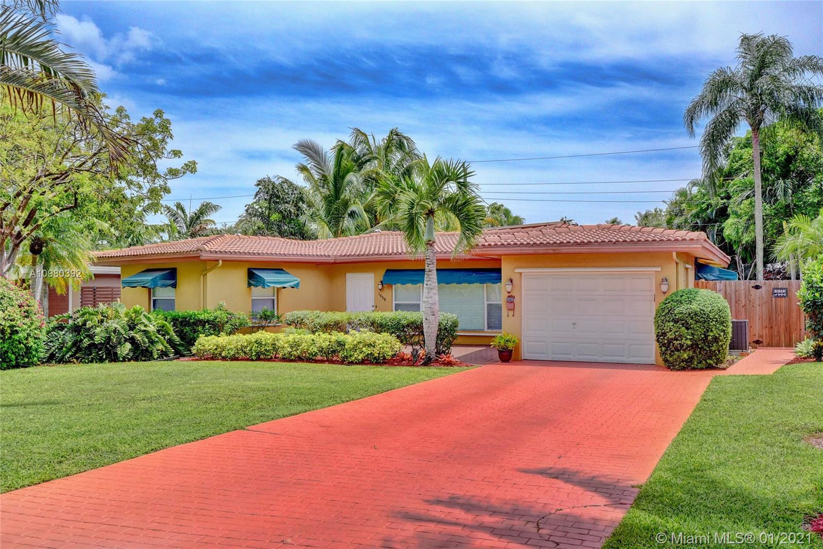 Beautiful remodeled pool home in the heart of Poinsettia Heights. Lush, mature landscaping and open, well appointed backyard designed for entertaining. Spacious 2 bedroom home with ample closet space, lots of storage, 2 full bathrooms including steam shower, Jacuzzi jetted tub, and nice big shower with seat. Master bedroom has French doors that open to pool area. Solar panels, pool, hot tub, all pool/spa equipment is new and stays. Outdoor shower with hot/cold water. Brand new 3500 ton A/C unit one year old with 9 year warranty. One car garage with built-ins, great curb appeal, and plenty of privacy. New fence with hurricane resistant gate panels, and durable, easy to install hurricane shutters for all windows and doors. Plus wonderful neighbors!