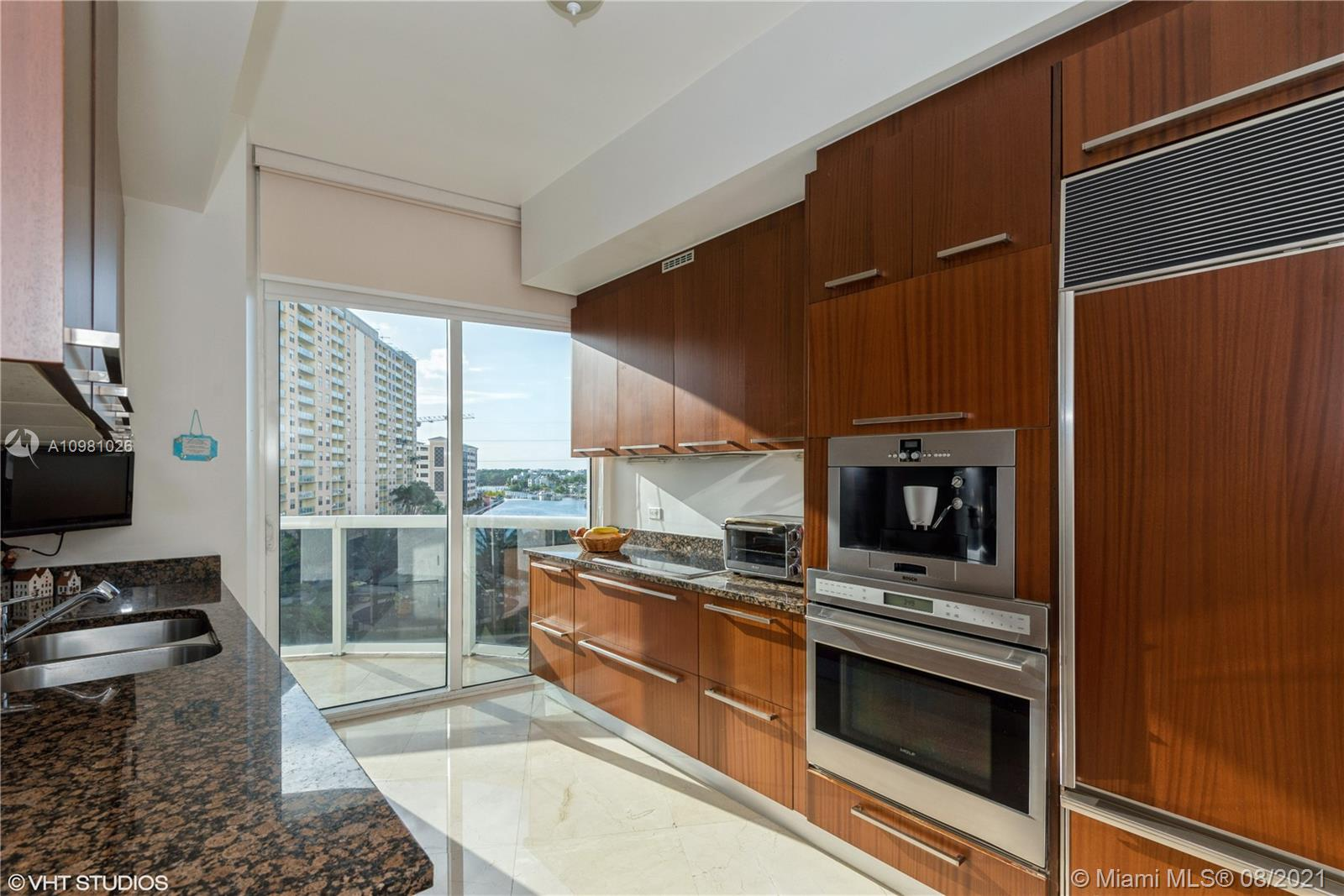 A great opportunity to buy in luxury Trump Towers, full service building with full beach service, restaurant on site for dine in and en suit delivery, valet, concierge 24 hrs, beautiful gym and spa area.  This large 2 bedroom unit has few unic features: the kitchen is more private and has a large window,  lots of natural light and you get to enjoy this beautiful view of intracoastal; there is an extra entrance from/to the kitchen (which is great for groceries drop off, no mess in the living area) AND the best part - extra entrance from the master bedroom with few perks to it: you can access pool area WITHOUT taking the elevator - easy and quick access to the pool area its all just steps away! Come see for yourself, you will not be disappointed!