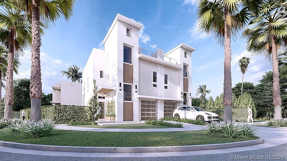 Stunning Brand New Modern Construction in the Coconut Grove area. This 2,640 square foot Townhome includes 3 bedrooms, 2.5 bathrooms and 1 car garage. Fully equipped with all impact windows and doors, beautiful modern finishes, 32' x 32' Porcelain tiles throughout, modern Italian kitchen with Calacatta countertops and spacious family/living room. ONLY Townhome in the area with modern pool and a stunning private roof top terrace with skyline views. AMAZING LOCATION, walking distance from newly redesigned Coco Walk, Merrick Park shops, restaurants/cafes, supermarkets, offices and parks in the Coconut Grove/Coral Gables area. Minutes away from Downtown Miami and Brickell City Center. A must consider if you are looking for a Modern Centrally Located Townhome in the adored 33133.