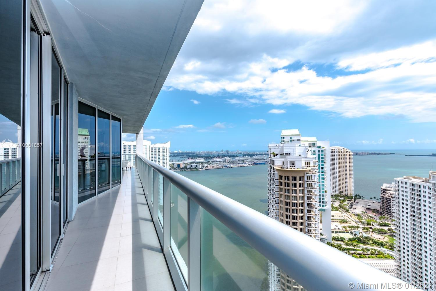 The largest and most thought after line in Icon Brickell. 3 BD/2.5BA corner unit with gorgeous water views from all rooms. Hip and luxurious building by Philippe Stark with one of a kind commons area and amenities. High-end restaurants on premises (Cliprani and Catina LaViente.) Very walkable neighborhood 5 min walk to Brickell City Center. Unit is furnished but owner will exclude artwork and personal items.