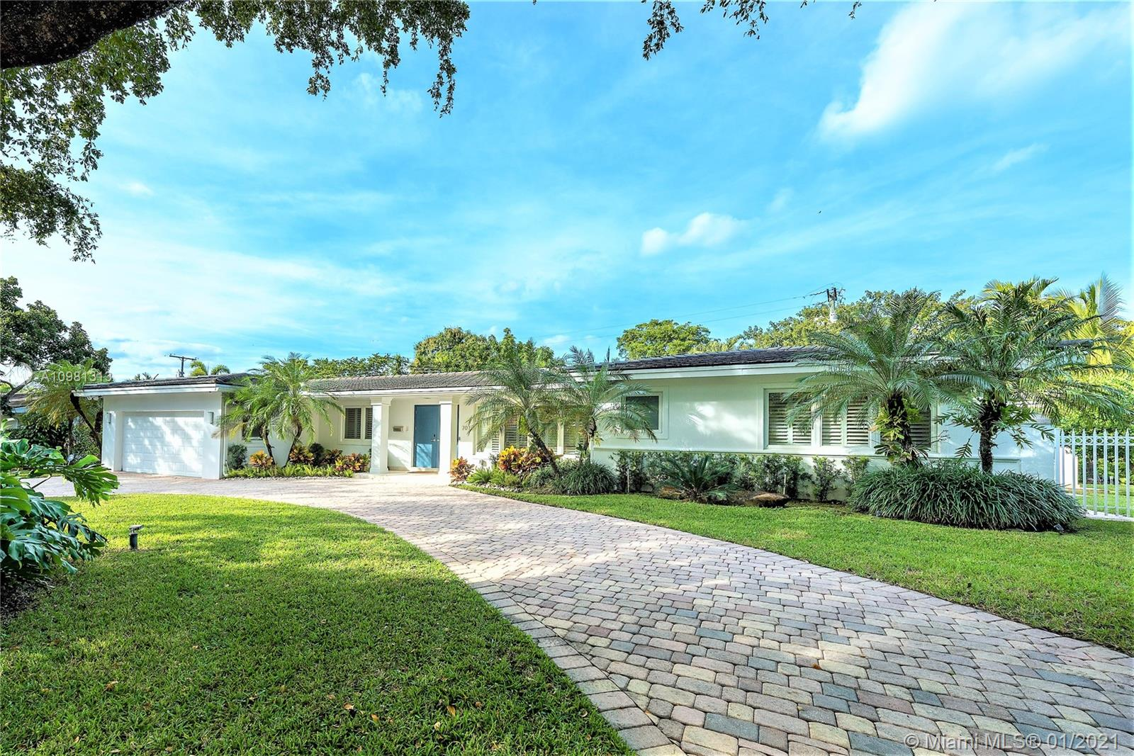 Amazing 1 story Home at the Platinum Triangle in South Gables, across from Gables States. Renovated in 2013. Recessed lighting. Music Sound System. Plantation shutters. Marble & wood floors. 8 years old roof. Heated pool. Ornare gourmet kitchen w/hood, Thermador gas cook top &Siltstone counter top. Spacious master bedroom, bath & walk-in closet. 2nd bedroom/office w/en-suite bathroom, sliding doors, & window, no closet, could be part of the master. Each bedroom w/ his own bath. Family. Amazing laundry room. All high impact windows. 3 A/C units (2 are new). Septic Tank and Drain Field. Beautiful garden and green area. 500 Gl Propane powered Generator. Circular Driveway. Nest sec system. Per Owner 4,189 SF under A/C. Please see Broker remarks for showings.