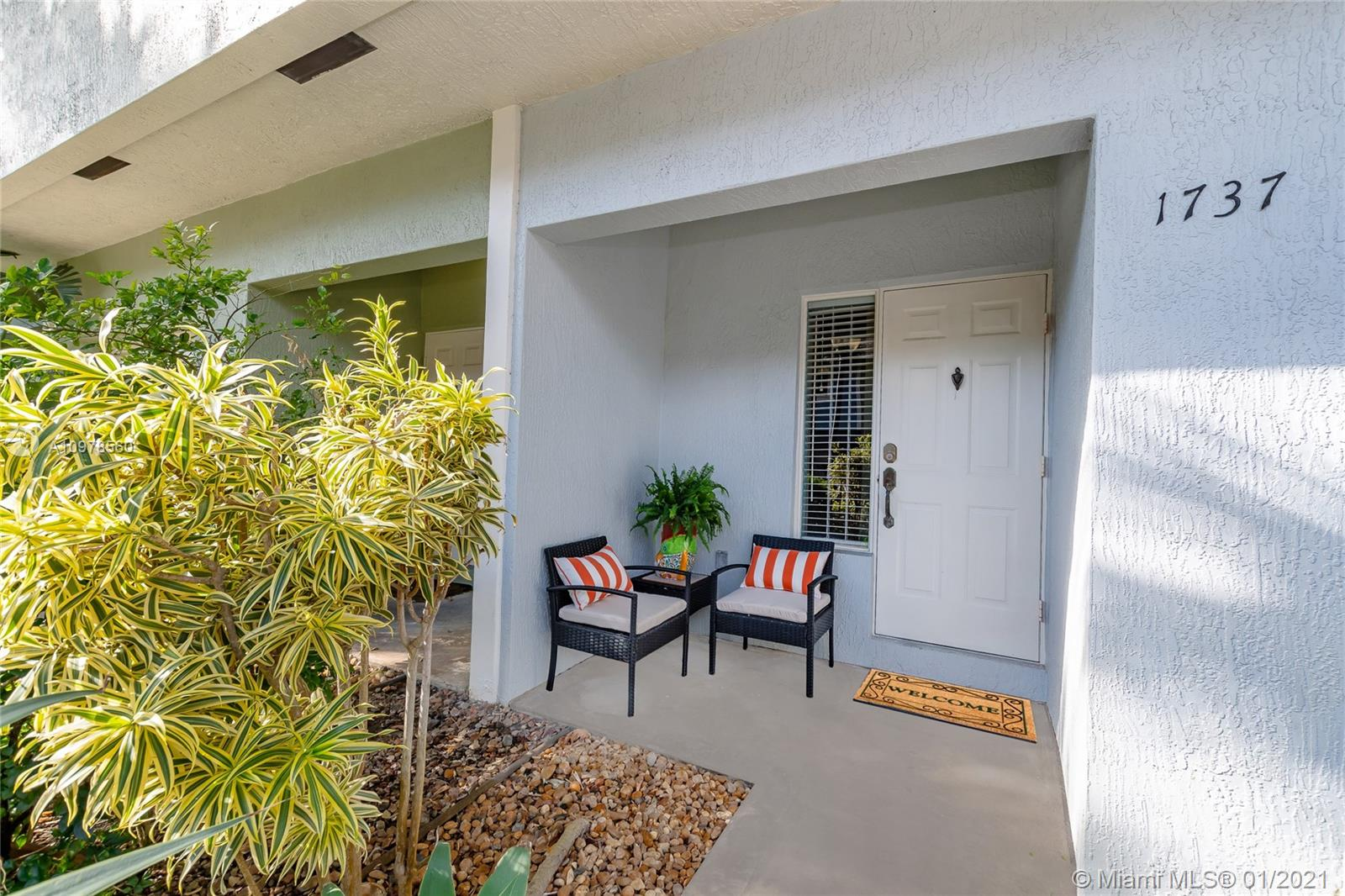 "Enjoy this Updated turn key Townhouse in a popular Gated Community of River Landings, just a few minutes to Wilton Drive. Open concept floor plan with large sliding glass doors leading out to a lovely Private tropical Courtyard Paradise with a water feature. Fabulous Kitchen with Granite Counters and additional Pantry. Originally a 3 Bedroom converted into 2 large Bedrooms with nice closet space. Stunning Primary Bath with double sinks and over sized shower. Volume ceilings on both floors natural light throughout. 1 Car Garage with additional storage. Community Pool / Gazebo, healthy reserves, well managed HOA. Pet Friendly community and minutes to the famous ""Drive"" dining, shopping, nightlife and easy access to Highways, Airport and the Beach! Location is superior. A pleasure to show."