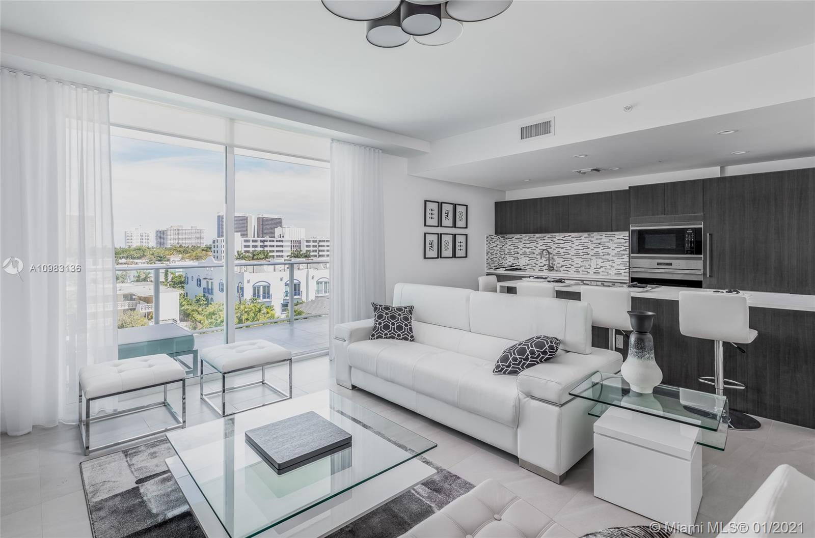 Fantastic opportunity to live in the prestigious neighborhood of Bay Harbor Islands, FL. Brand new construction comprises seven floors and 30 units that feature an open kitchen with Sub-Zero appliances, refrigerator baths with exotic stone & walk-in closets. Le Jardin Residences offers excellent amenities - 2 parking spaces, gym, and rooftop pool, rooftop terrace, barbecue area, concierge. A short distance from Le Jardin Residences, you'll find many restaurants, coffee shops, parks, and a luxurious Bay Harbour shopping center. Public schools in Bay Harbor Islands are above average. A+ School Ruth K. Broad Bay Harbor K-8 Center. Unit occupied until March 14th