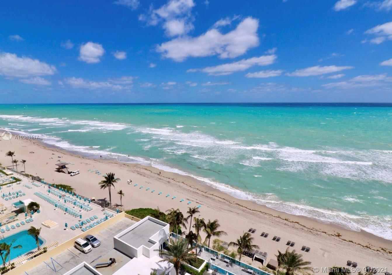 Best buyer in the tower. This is the one!  Fully furnished unit at Trump Hollywood. Features 3,395 SF, 3 Beds/Den and 3.5 Baths.  Experience unsurpassed views of the ocean and also the intracoastal sunsets. Private balcony and elevator.   Building offers upscale amenities including concierge, party room, breakfast area, gym, sauna, theatre, library and wine cellar.