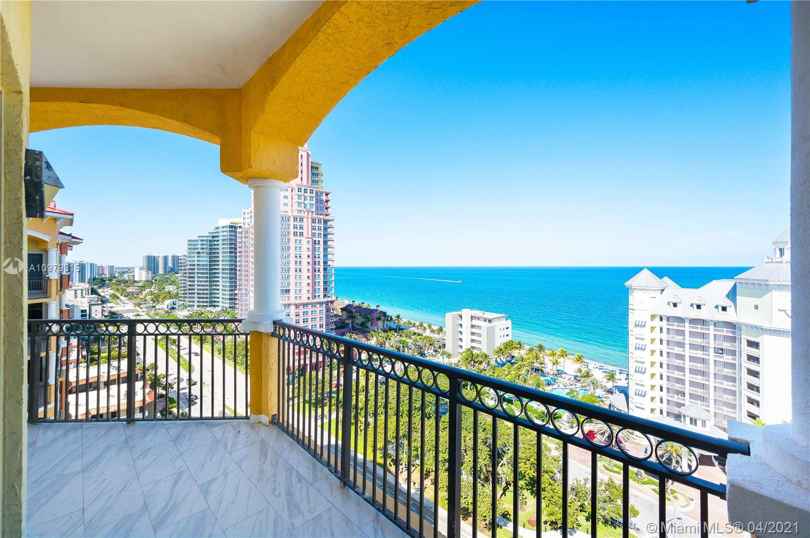 Top-floor unit at Vue with the most breathtaking ocean views. This charming and rare 3 bedrooms and 3 baths is a South Florida dream! Prepare to be swept off your feet from the moment you walk in the door. Enjoy both ocean and Intracoastal views. Each bedroom has its own private balcony. The Vue is a luxury beachfront condominium complex well known for the upscale amenities and gorgeous interior features. Located in the heart of Fort Lauderdale close to Las Olas, Galleria Mall, and all the upscale beachfront restaurants Fort Lauderdale has to offer. Cabana for sale separately. Offered at $160,000.