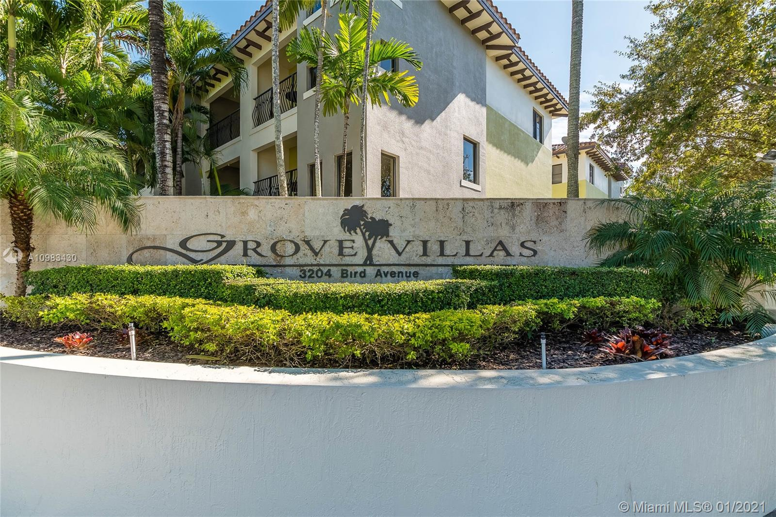 GROVE VILLAS CONDO LOCATED ON THE CORNER OF MCDONALD AND BIRD AVENUE IS THE PERFECT PLACE TO CALL HOME IN COCONUT GROVE.  2 PRIMARY BEDROOMS ON THE TOP FLOOR WITH A NICE LIVING LEVEL THAT CONTAINS THE OPEN KITCHEN, LIVING/DINING AREA, TWO BALCONIES AND A HALF BATHROOM.  THE FIRST FLOOR HAS AN OFFICE THAT COULD BE TURNED INTO A 3RD BEDROOM WITH HALF BATH, PRIVATE PATIO AND 2 CAR GARAGE.  TENANT OCCUPIED, REQUESTING 48-72 HOUR ADVANCE SHOWING REQUEST.  LEASE ENDS 4/30/2021 PAYING #2950/MONTH