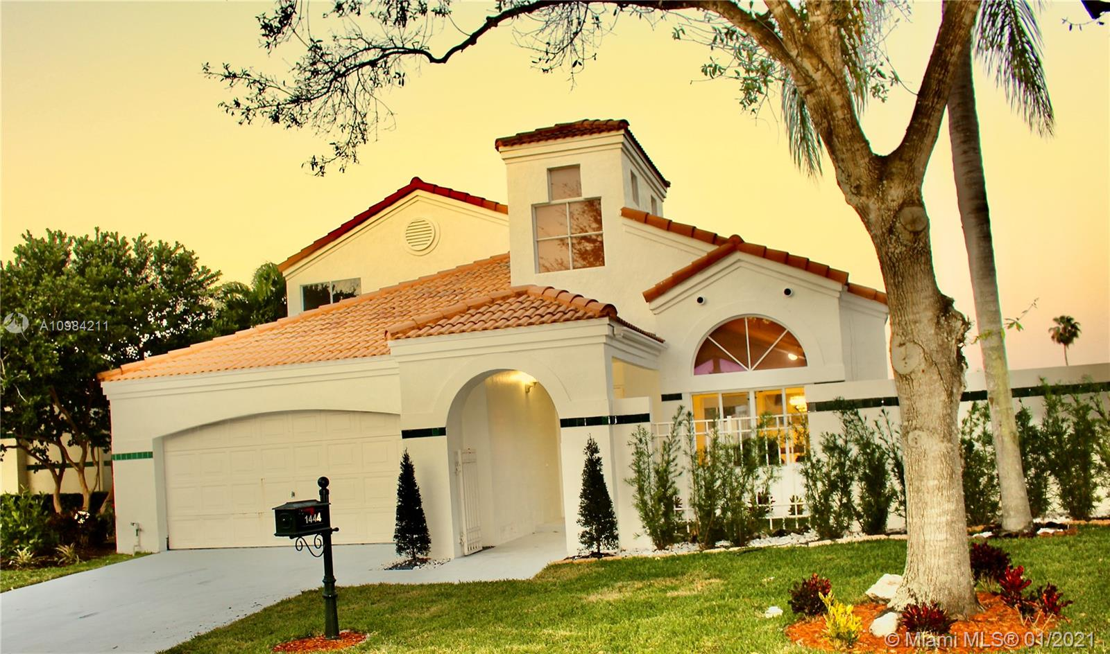 Priced to Sell!!! Completely remodeled single family home in sought after Coral Harbour Gated Community, with only 86 single family homes and a 5 minute walk to Weston City Center. This waterfront 2 story home Features 4 Bedrooms + Den/Office & 2 Full Baths 1 half bath. Completely Upgraded; New Kitchen with Quartz Counters, New Cabinets & Appliances, All Bathrooms beautifully Remodeled. Wood Floors and New LED lighting throughout, New AC Unit, New Water Heater, Washer and Dryer, 2 Car Garage, Storage, Office, resurfaced Pool, A+ Schools District and more.