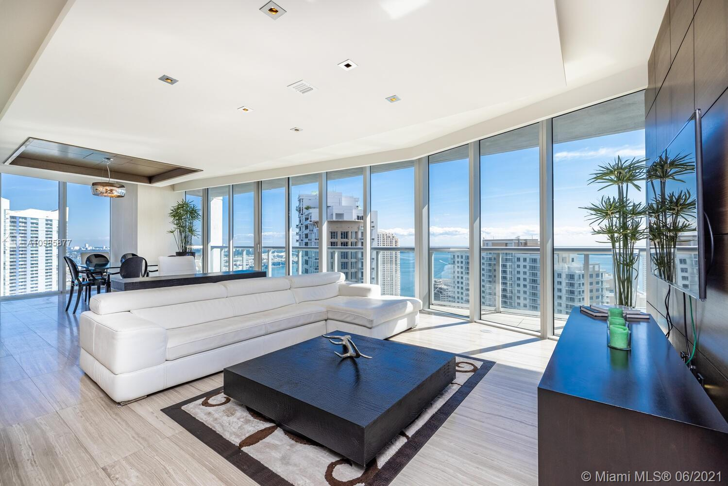 The largest high floor Residence with the best price @ ICON BRICKELL, Tower I. This residence features 3 bedrooms, 2.5 bathrooms, 2,294 Sq Ft Total area / 2,044 Sq Ft of Living Area, as per developer floor plan, Assigned Parking Space included, Stainless Steal appliances, marble and wood floors, exquisite views of the Ocean, Biscayne Bay and Downtown Miami. Come take a look at one of the most luxurious condos in all of Icon Brickell. Price is firm. Showing from Monday to Friday 10am to 5pm only with 24-48 hr prior notice.