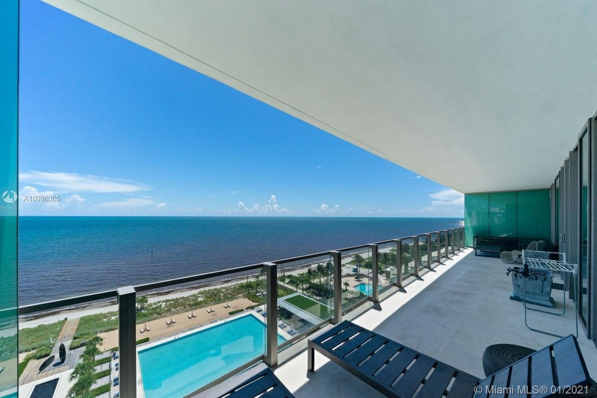 Breathtaking direct Ocean views from this most desirable line in a higher floor at the brand new & prestigious Oceana Key Biscayne. This is one of the best private beach front buildings in South Florida with more than 500 linear sq. ft of white sand. This amazing property features a private elevator which opens to an exquisite unit marble floors, 3 bed / 3 baths and amazing side to side enormous terrace of 425 sq ft. Laundry room with spacious pantry. White Quartz kitchen counter tops, master chef double oven, under counter wine storage. Master bath with Jacuzzi. Infinity pool, fitness center w/ top of the line spa, lap pool. Tennis, volleyball yard. Restaurant & more...