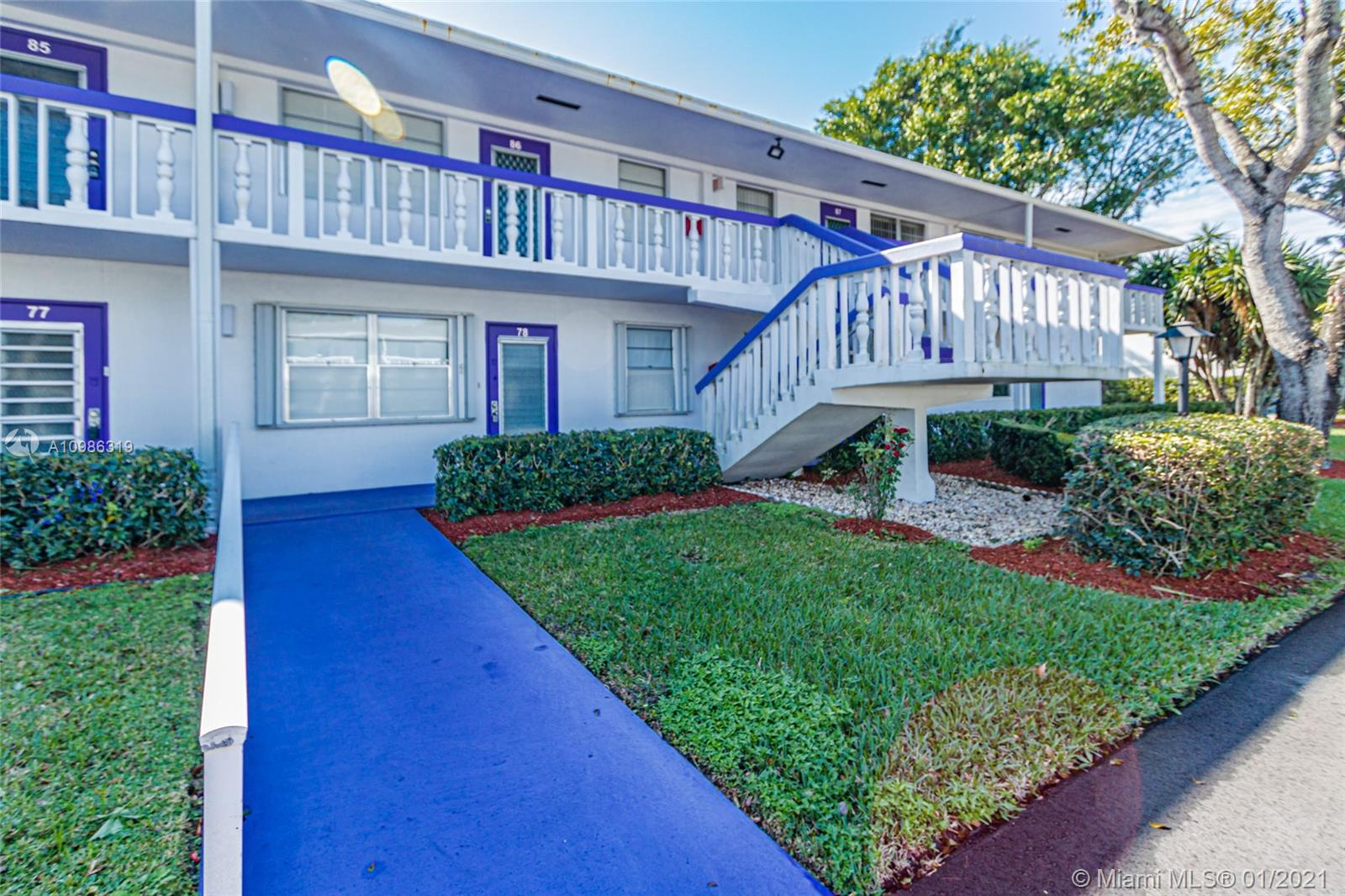 Nice comfortable and updated unit in the quite Century Village. AC and Water Heater 5 years old, balcony with hurricane protection. Furniture is negotiable. Gated community with free transportation (inside and to some outside locations), active clubhouse with free movies, classes and events. Convenient located at less than 15 min from the beach and major Highways.
