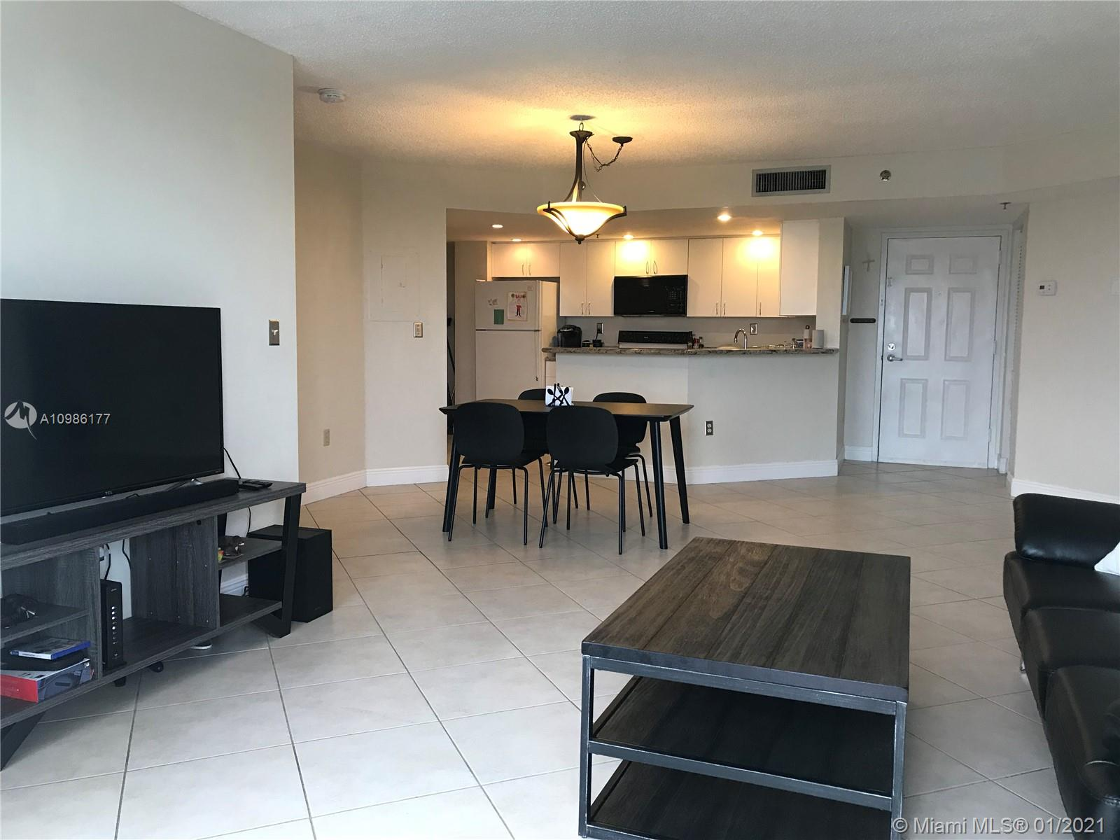 """GREAT LOCATION! 2/2 Corner unit on the 11th floor overlooking Beautiful Coral Gables -  2 blocks from """"Miracle Mile"""".  Split floorplan with walk in closet, open kitchen with granite counter top, washer / dryer in the unit and tile throughout.  Pool with outdoor kitchen, Business Center, Club Room, Security, Front Door Attendant, assigned covered parking as well as guest parking. ***Schedule on Showing Time*** Tenant Occupied till 2/28***"""