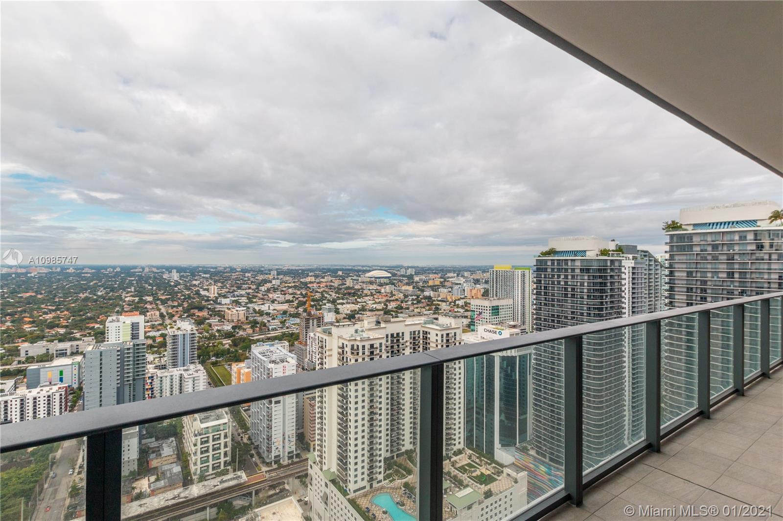 Be the first to live in this, 1,804 SF Living Area, and 355 SF terraces with unobstructed, endless west views over Miami and beyond. This unit is two units combined and it features 3 bed 3.5 bath plus den. Each bedroom has high quality built-in closets and breathtaking views. Unit includes with Miele appliances, Italian cabinetry, keyless door entry technology, tile looking wood floors, etc. Amenities are lounge pool table, movie theater, lap pool, kids room and more. As well, a second rooftop swimming pool, jacuzzi, cabanas, sundeck, gym, spa, relaxation space, massage rooms. The unit comes with 2 assigned parking space and 1 free valet.