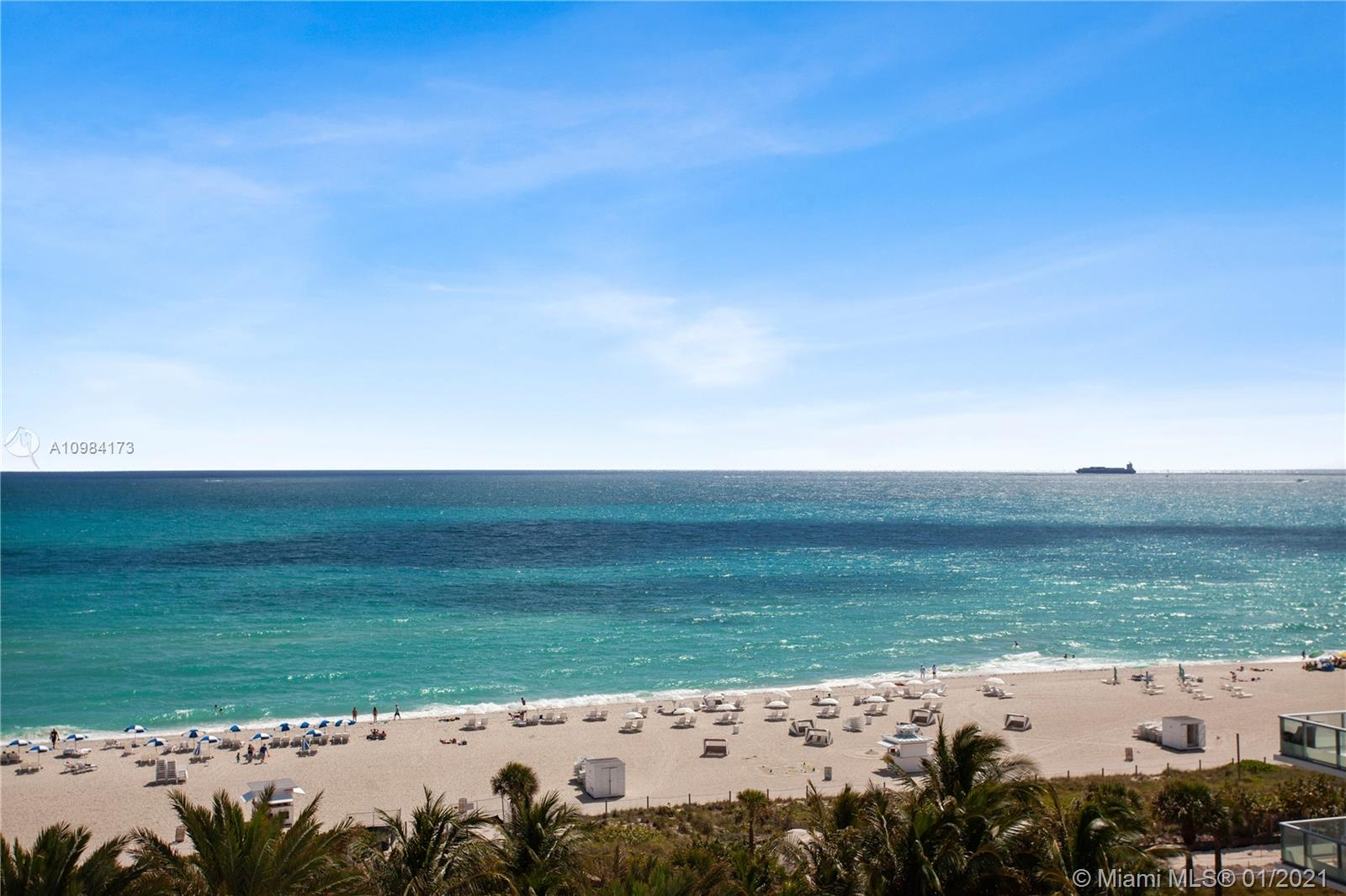 Stunning flow-through 3-bed corner unit with direct ocean and downtown views. Enjoy the sunrise and sunset from two balconies. Unit 901 features a private elevator, modern Miele appliances, and an interior with details and appointments to serve both luxury and comfort. Mosaic Miami Beach is a boutique luxury condominium featuring private elevators, a state-of-the-art fitness center, beach service and an incredible location adjacent to Faena, Edition, Fontainebleau, SoHo House and top hotels.