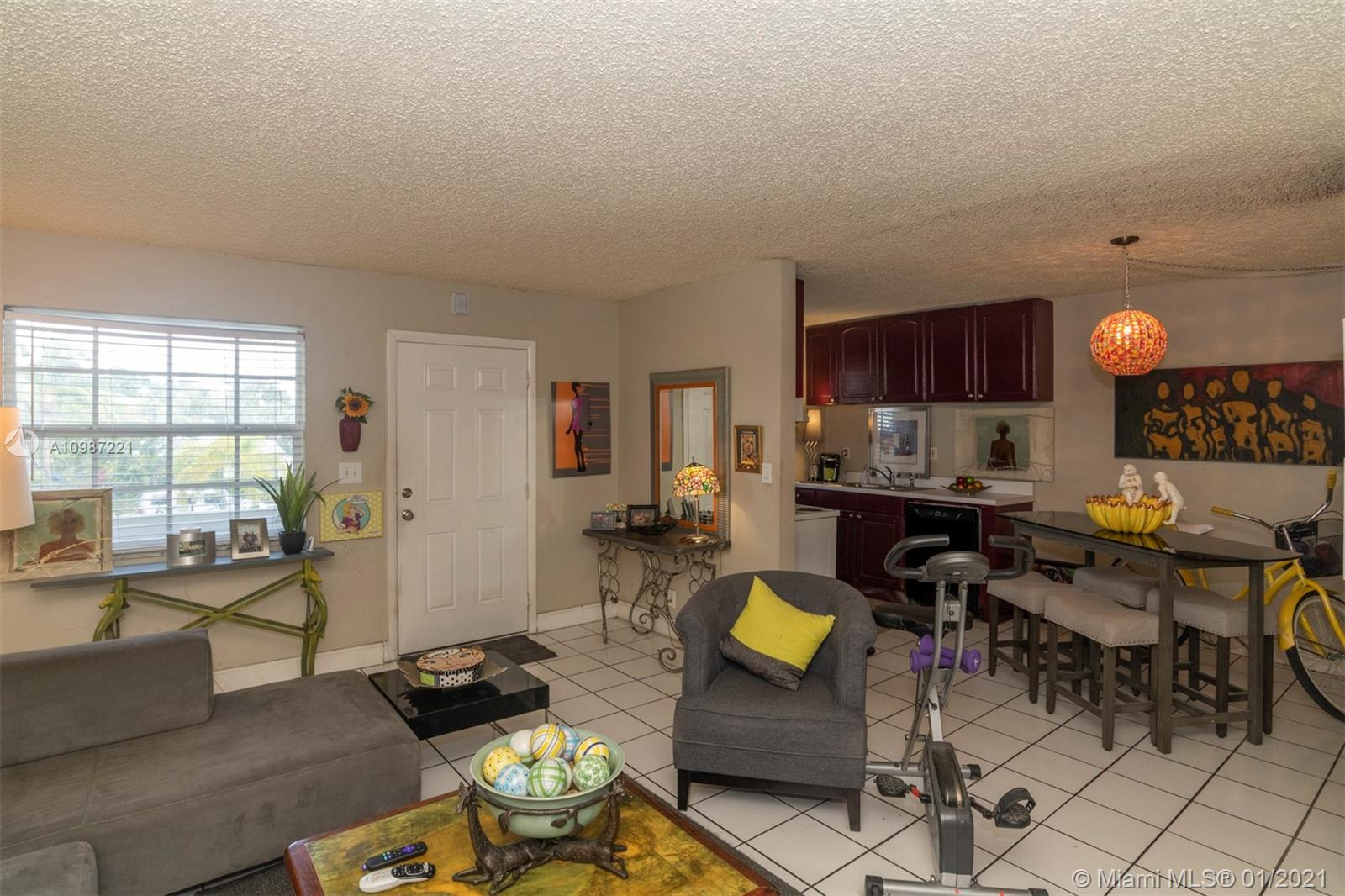 Location Location! Steps to Wilton Drive and with assigned parking space.  This adorable 2nd floor one bedroom/one bath condo features tile floors and open kitchen, living, and dining areas. Great location for your Wilton Manors escape/2nd home or as an investment - tenant has been there 8 years. Either way, can't lose! Complex is maintained well - can go in and make the interior your own! Under a lease  until May 31 but can arrange showings with an appointment. One of the best investments you will make this year. All impact windows with new AC and water heater in 2018