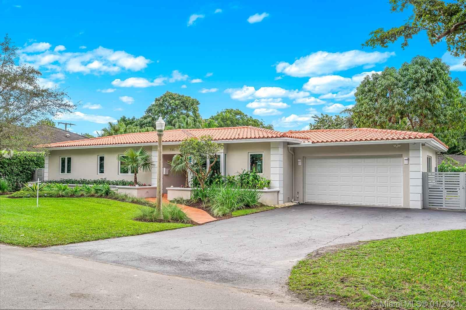 "Incredible 3br 3ba Gables remodeled in 2014 and located in sought after ""Platinum Triangle"". Gas and electric appliances included. Fabulous Sunset Elementary nearby offering a language magnet program for Spanish, French and German, considered the best program in all Miami-Dade County. Great family friendly neighborhood, just minutes from S Miami, Red Road Mall, restaurants, Downtown Coral Gables, Coconut Grove and Miami. This home has it all and is move-in ready! Make sure to pick up complete feature list when visiting showing the many replaced items including security cameras, A/C system and much more! MASKS ARE REQUIRED & BOOTIES AT FRONT DOOR."