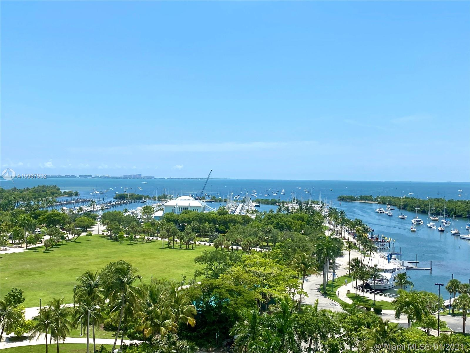 Overlooking the prized Biscayne Bay, this 3 bed condo welcomes you to the newly delivered One Park Grove. Great opportunity to purchase with tenant in place paying $14,000/month. Contact us for lease details and kick out clause. A private elevator foyer opens to 2,884 sqft with 12ft glass walls and a 393 sqft bayfront terrace highlighting the sensational views. 9B is finished with closets, drapes and light fixtures. It also boasts an open kitchen with upright wine fridge, marble countertops and high end appliances like Subzero and Wolf gas ranges, plus 2 water closets with Toto bidets in the main bath. Home to only 66 residences, One Park Grove features dedicated spa, sauna, fitness center, board room along with the 50,000 sqft of amenities of beautifully landscaped grounds.